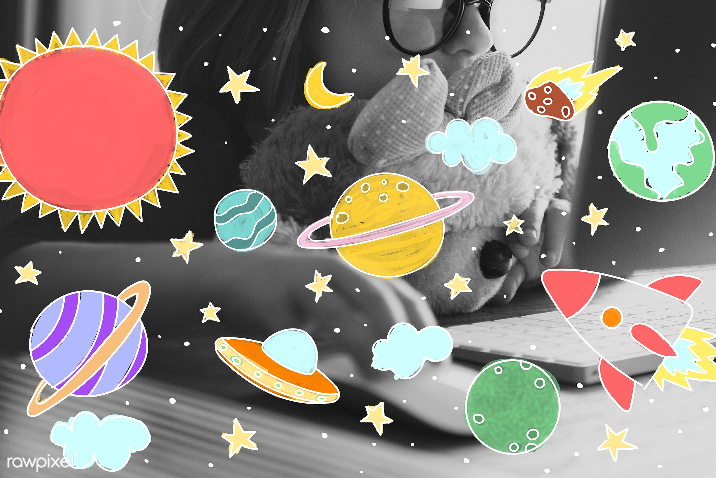 astrology, astronomy, browse, browsing, child, childhood, computer, cosmos, curiosity, drawing, education, elearning,...
