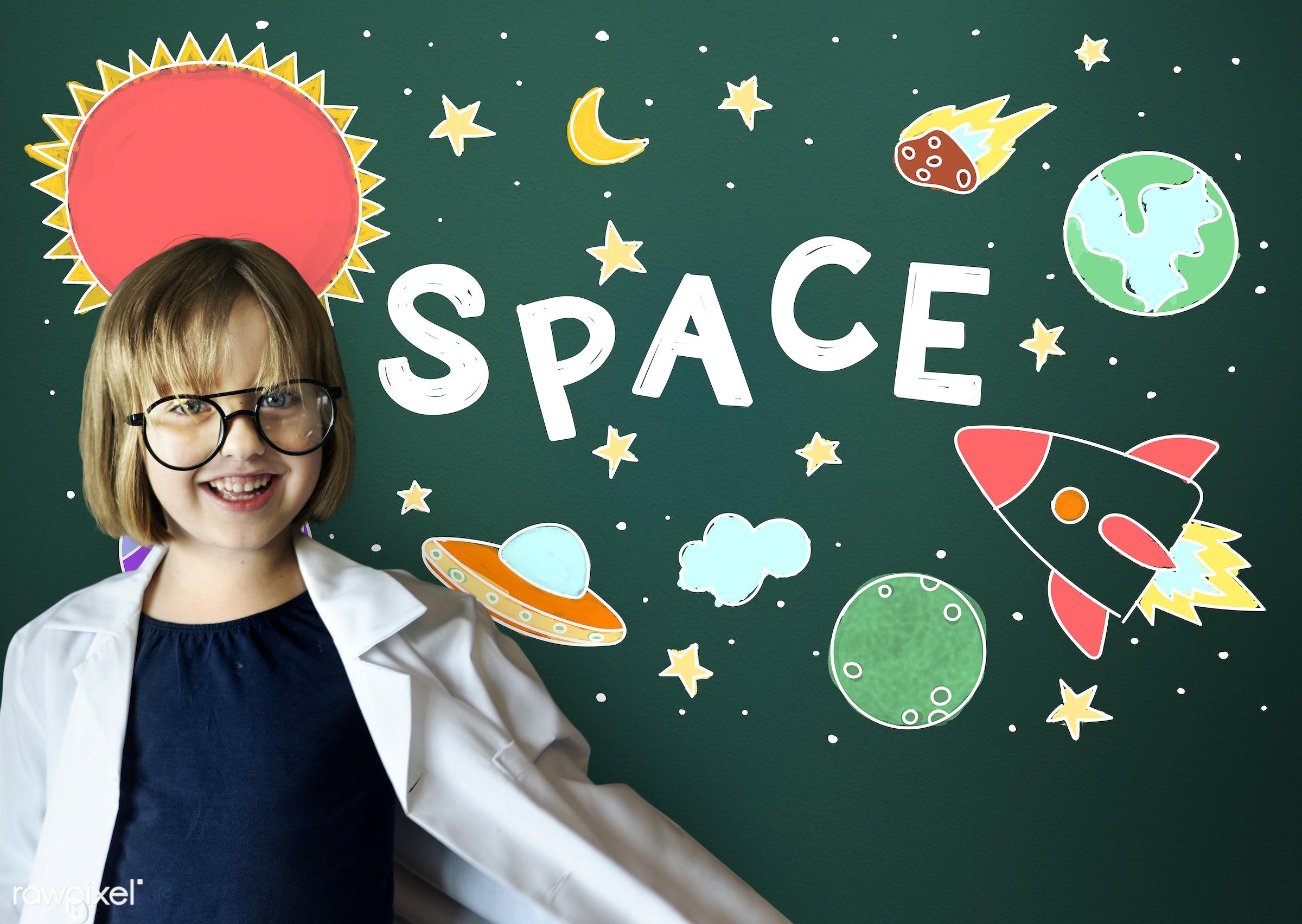 adorable, astrology, astronomy, blackboard, cheerful, child, childhood, cosmos, curiosity, cute, drawing, dream job,...