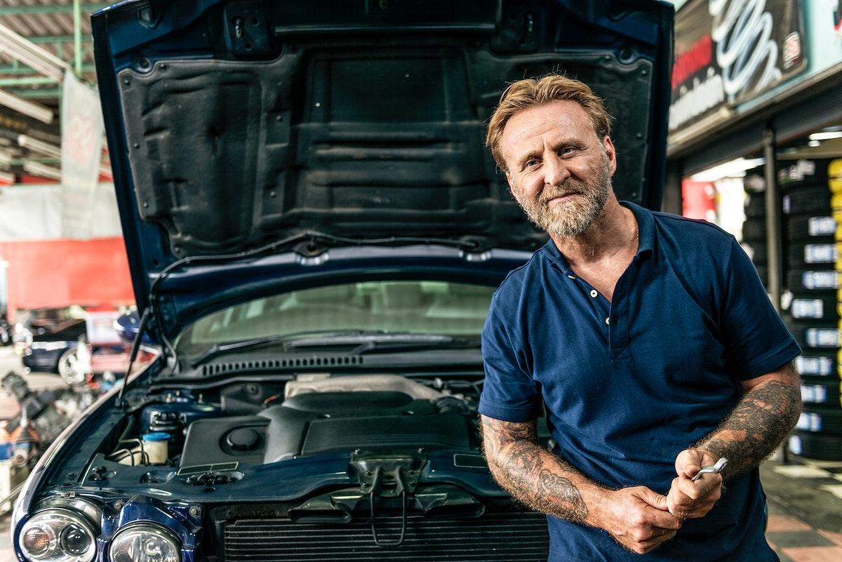 A mechanic in an auto repair shop