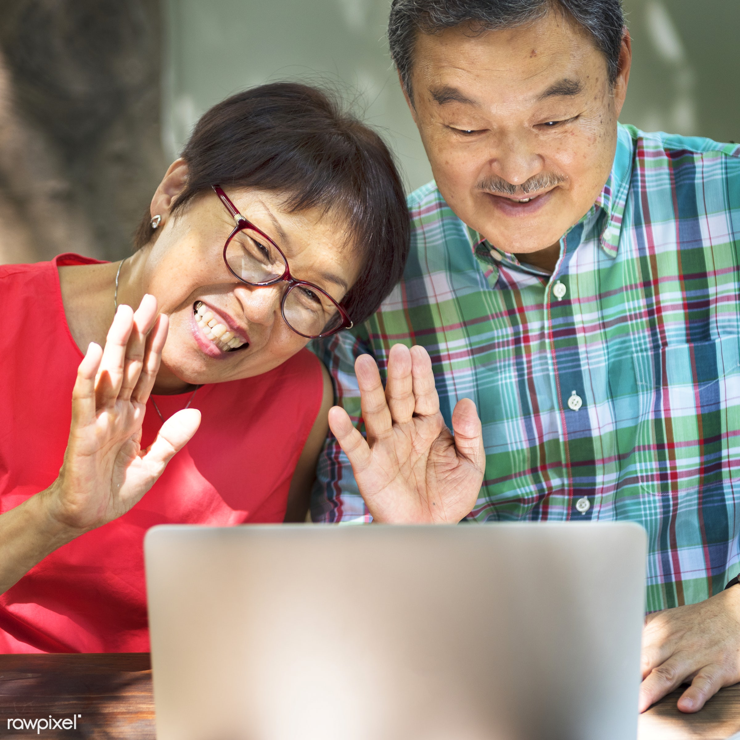 adult, aged, asian, browsing, care, casual, communication, computer, connection, couple, devices, digital, elderly, female,...