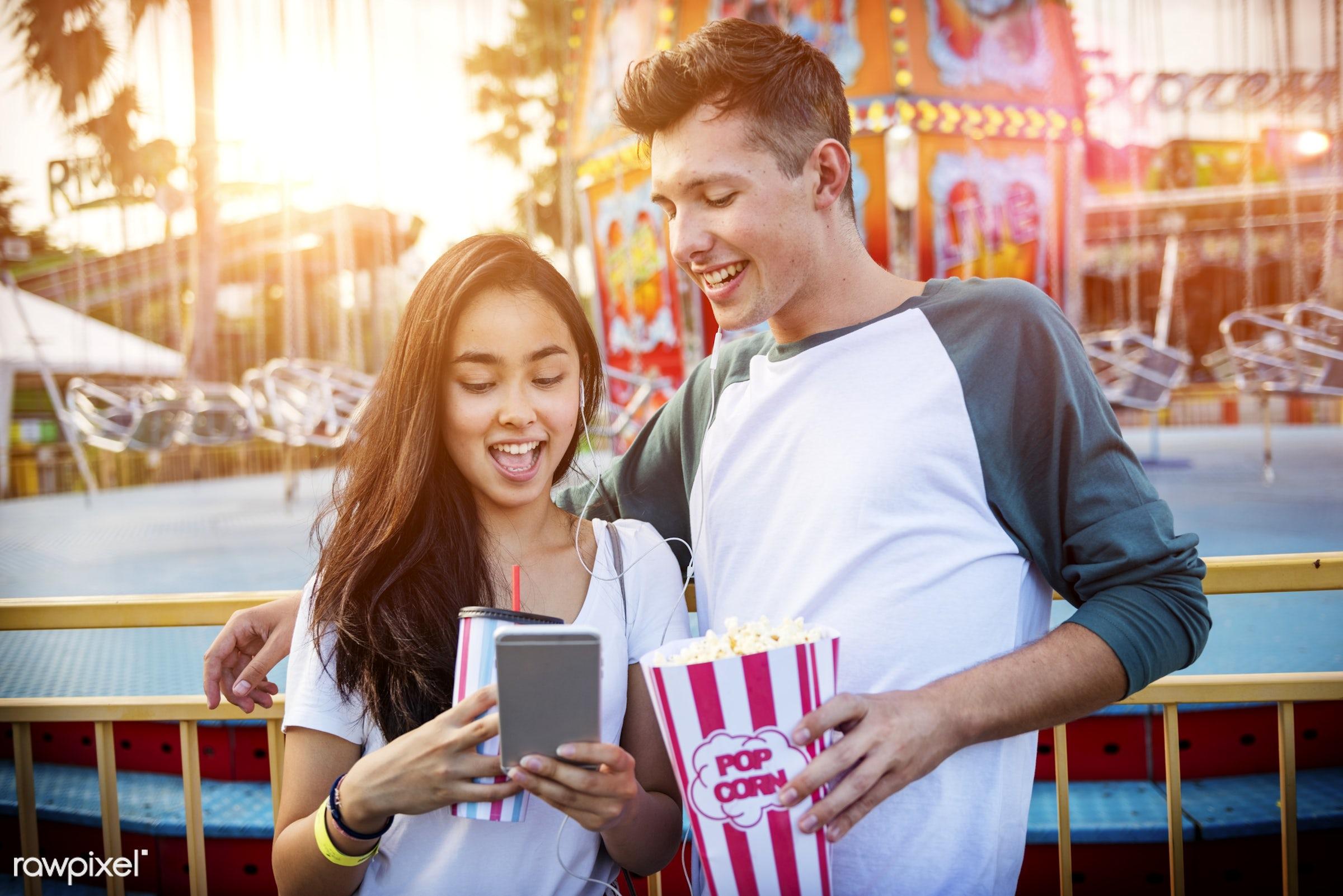 activity, american, amusement park, asian, black hair, carnival, carnival ride, casual, caucasian, cheerful, enjoyment,...