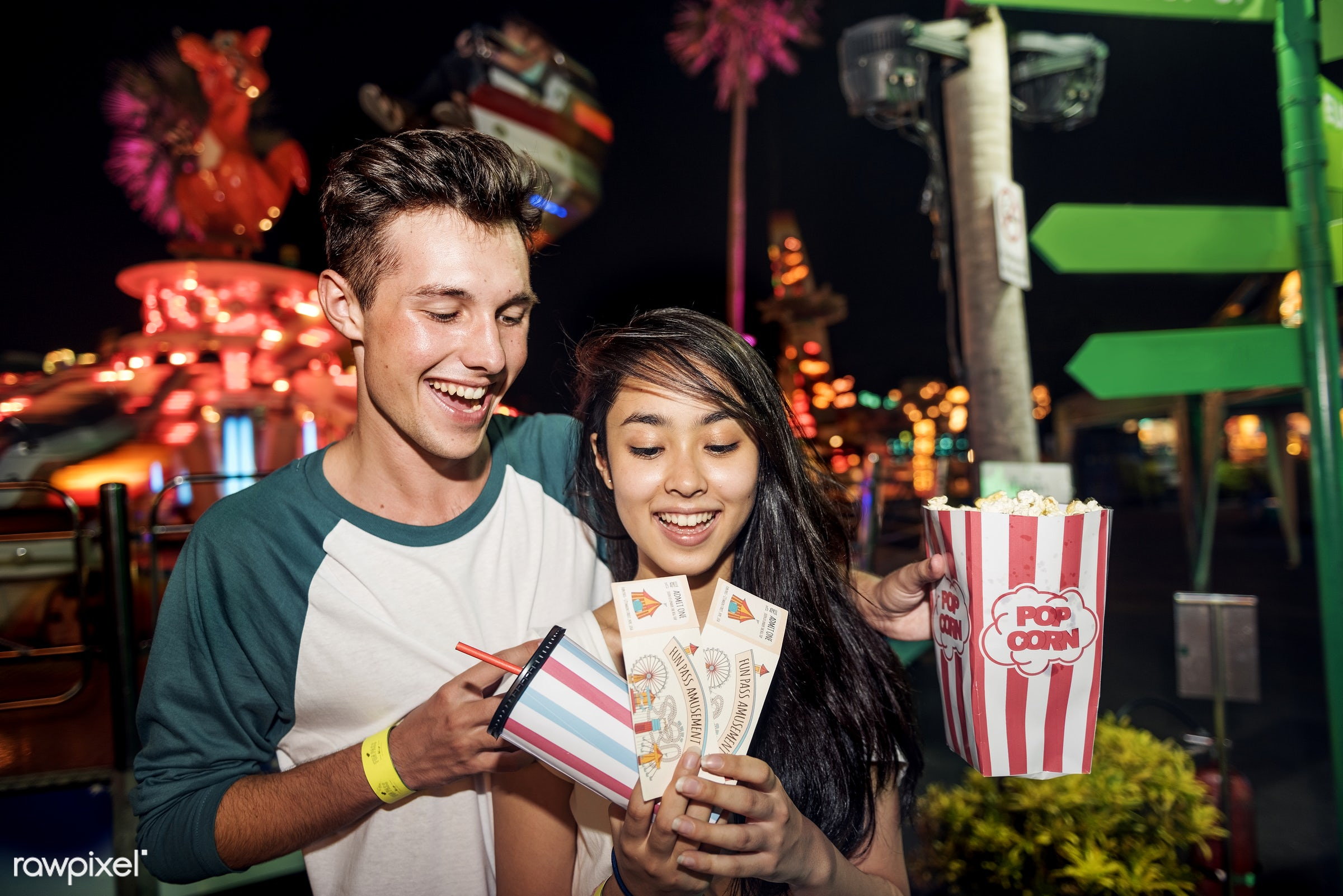 american, amusement park, asian, beautiful, boyfriend, candid, care, carnival, couple, dating, drink, enjoying, european,...