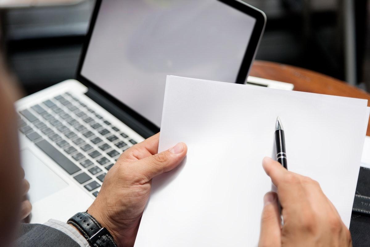 Layerspace Paper Document Business Men Concept