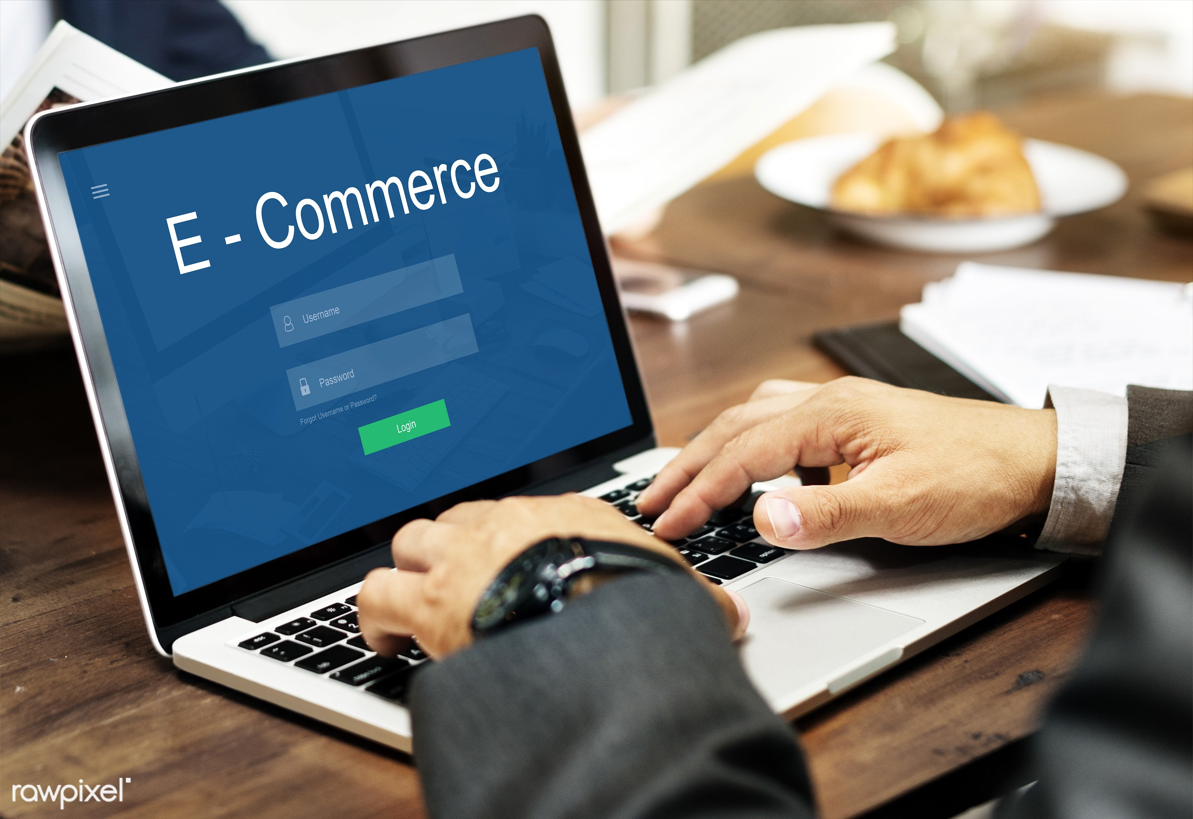 E-commerce - banking, browse, business, businessman, cafe, commercial, computer, computing, corporate, device, digital...