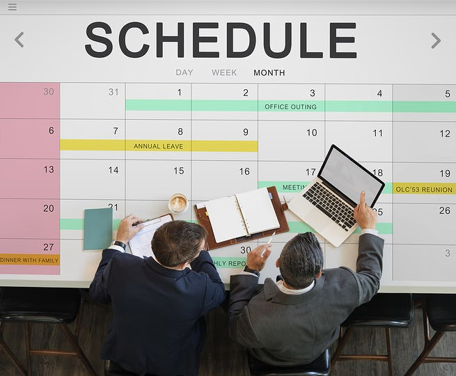 Schedule Agenda Calendar Appointment Graphic Concept