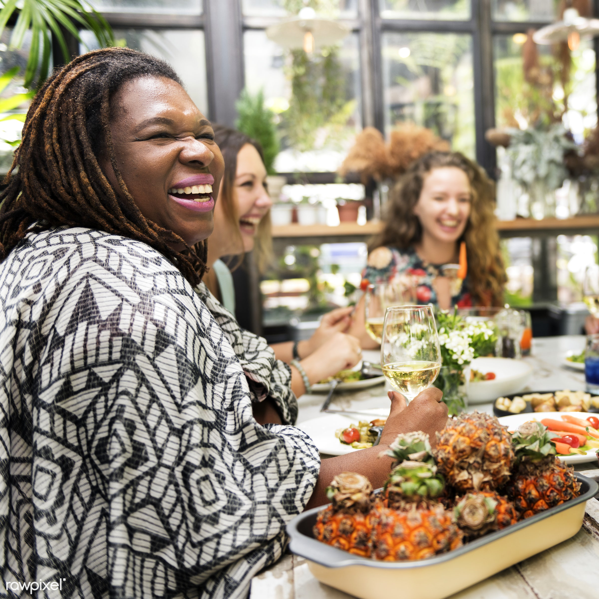 african, asian, caucasian, celebration, champagne, cheerful, communication, connection, decorations, dinner, dish, diversity...