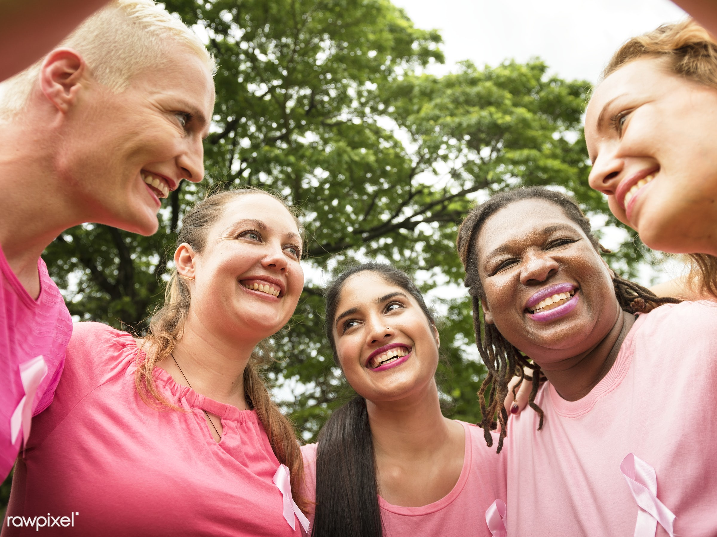 Women fighting breast cancer - breast cancer, adult, african, awareness, beautiful, breast, campaign, cancer, care, charity...