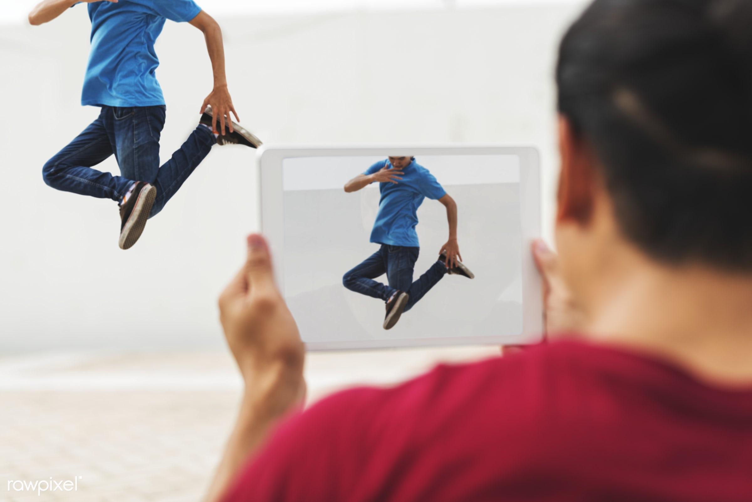 Young guys breakdancing - action, asian, attractive, b-boy, b-boying, boom, boom box, boy, break, break dancer, break...