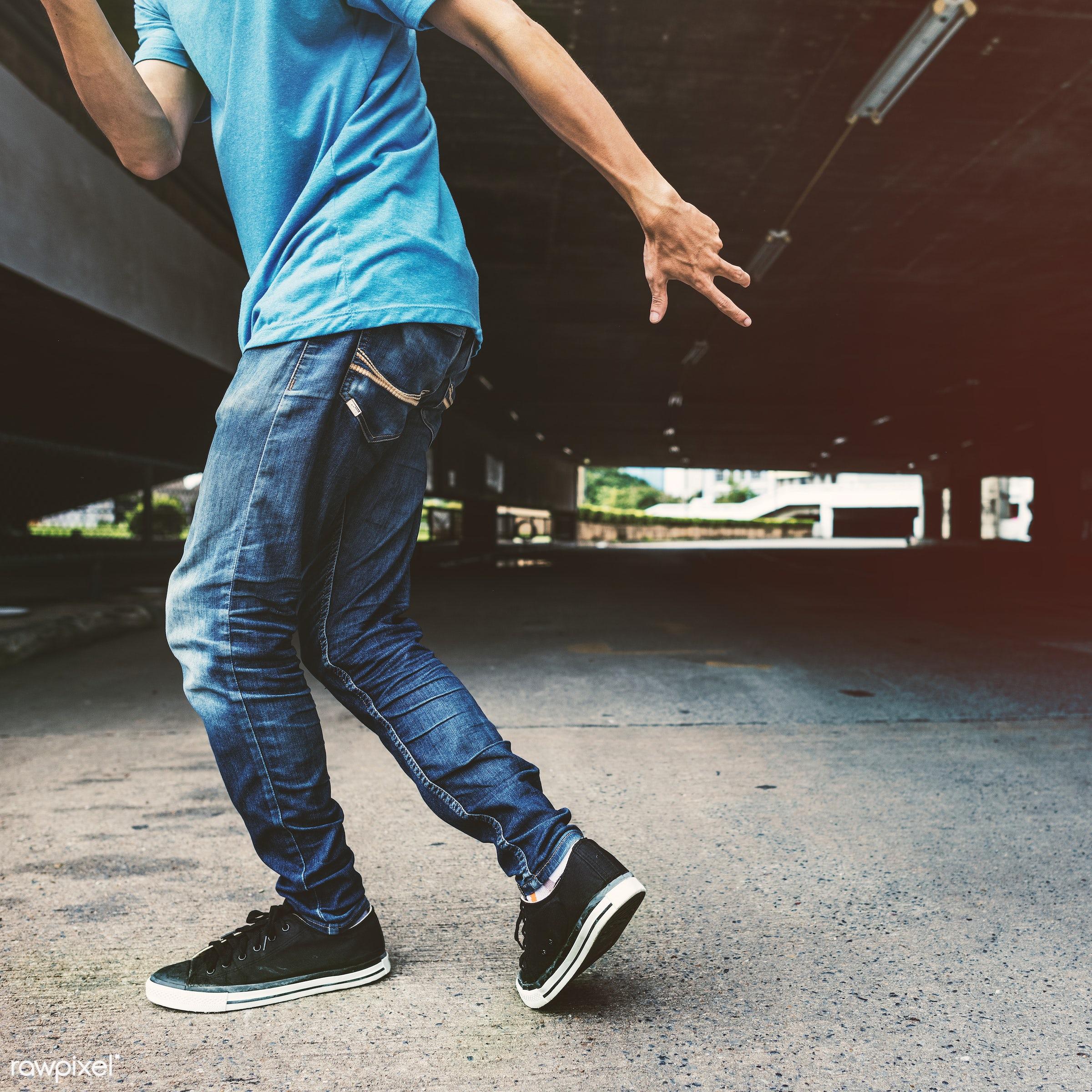 Young man breakdancing - dance, urban, asian, dancer, action, attractive, b-boy, b-boying, boy, break, break dancer, break...