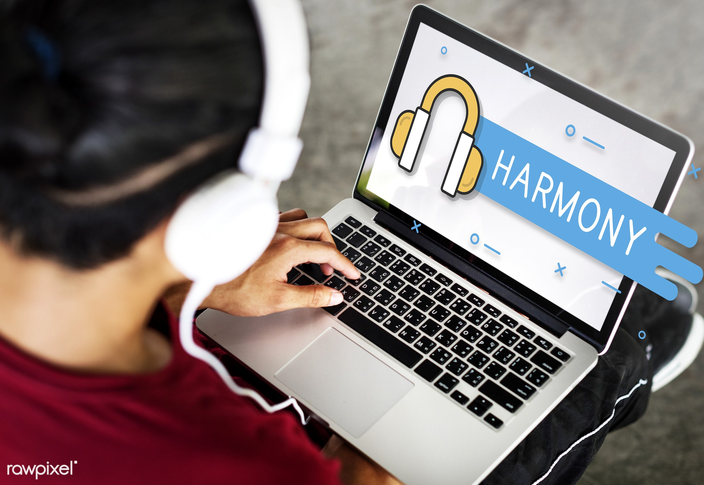 audio, broadcast, browse, browsing, connect, connection, earphones, entertainment, flat, graphics, harmony, headphones, icon...