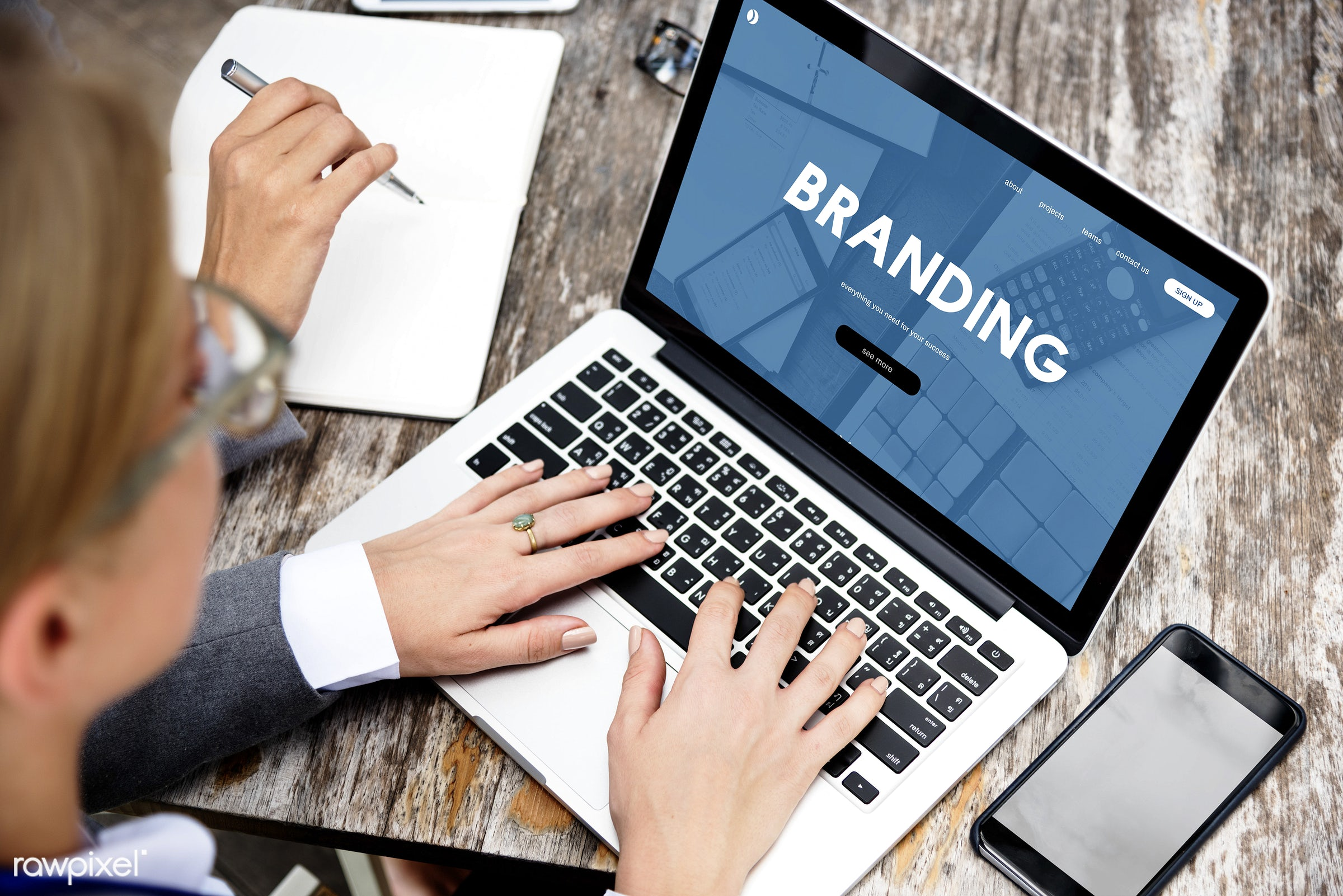 Online business marketing - website, branding, advertising, badge, brand, brand name, business, businesswoman, businesswomen...