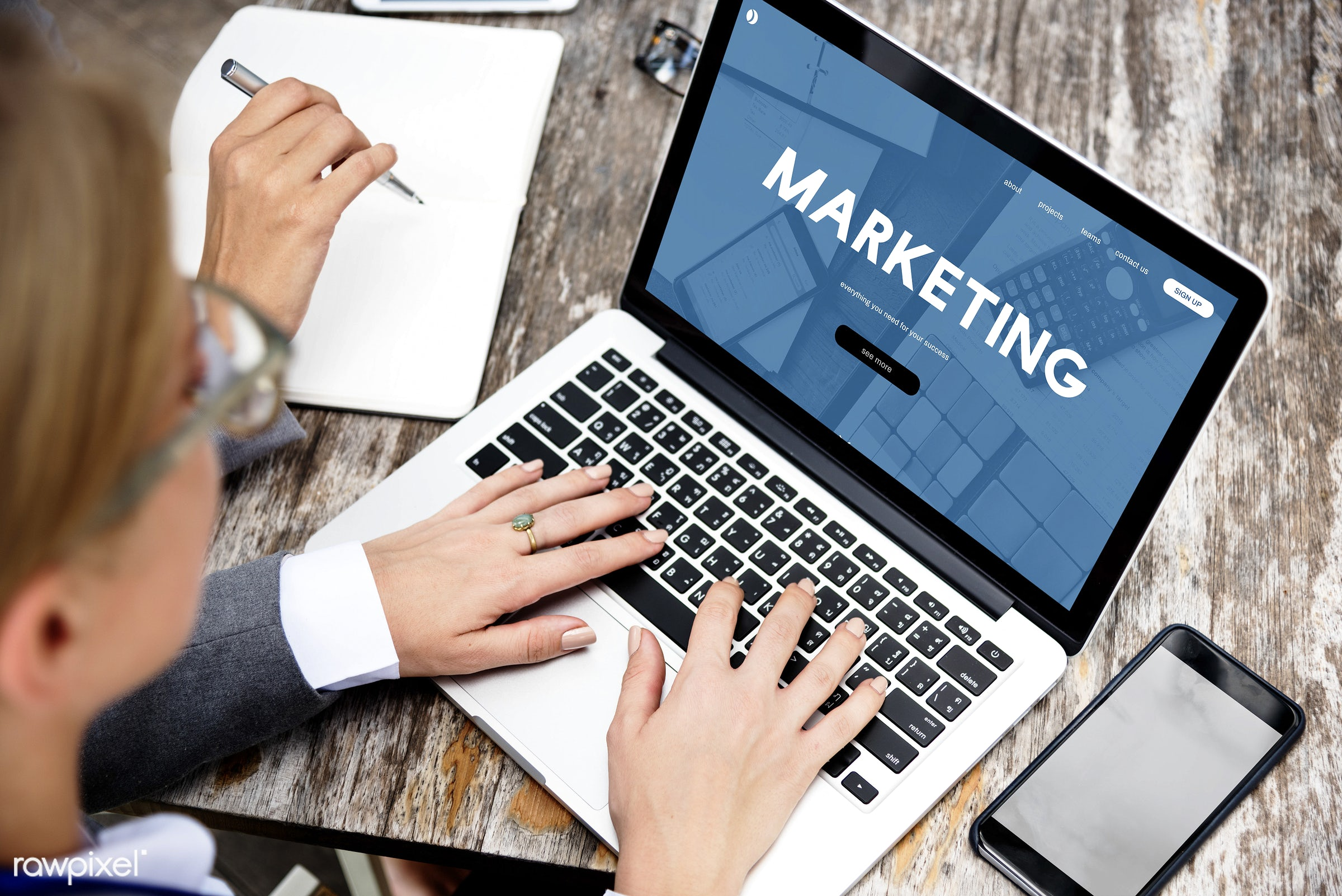 Online business marketing - advertising, availability, branding, business, businesswoman, businesswomen, campaign,...