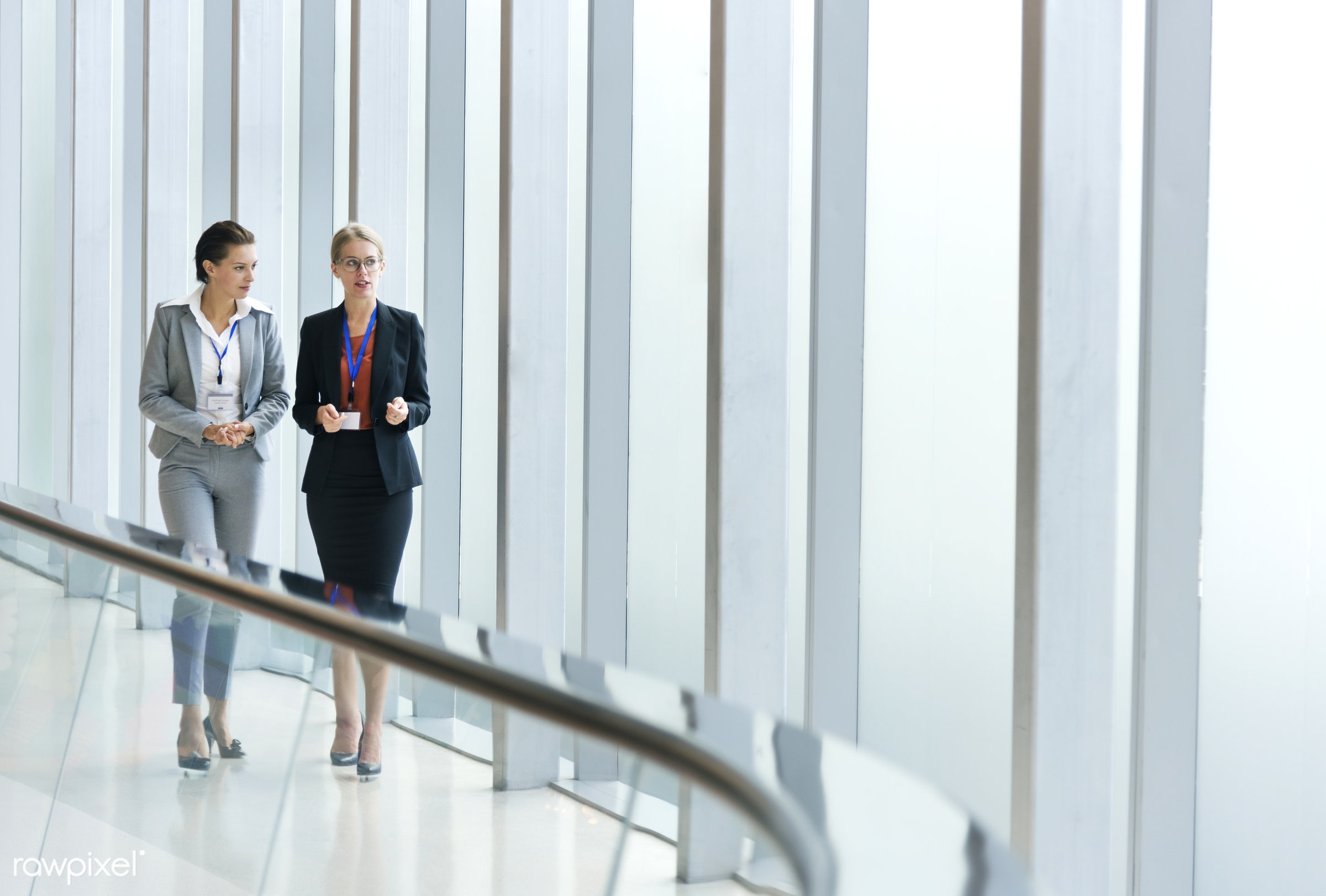 Two businesswomen working together - agreement, business, businesswomen, colaboration, colleague, communication, community,...