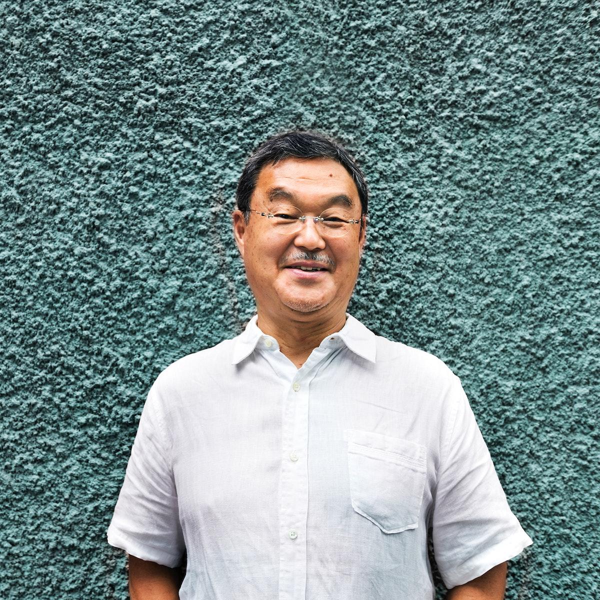 Portrait of senior asian man