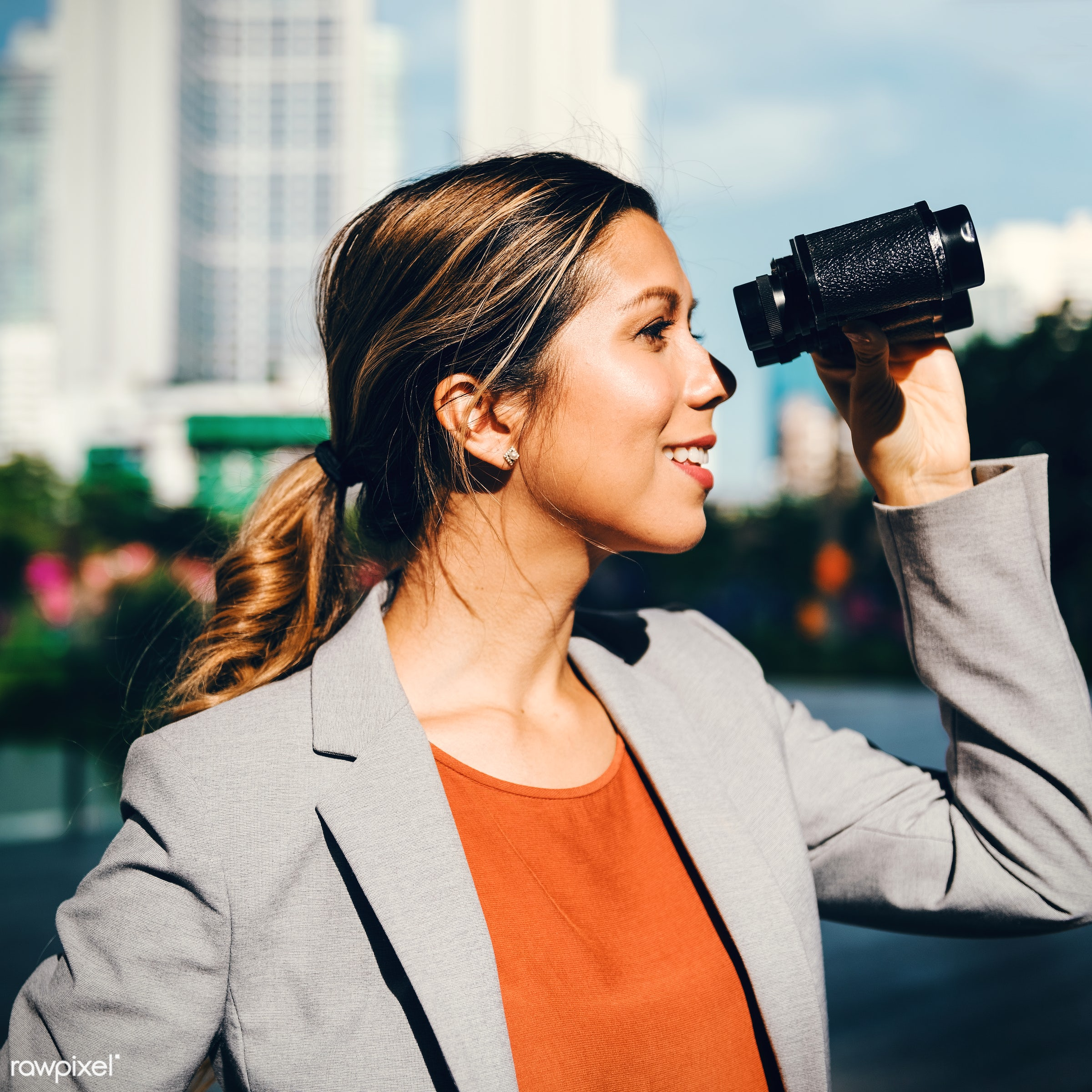 search, binocular, executive, adult, attractive, beautiful, building, business, businesswoman, commercial, company,...