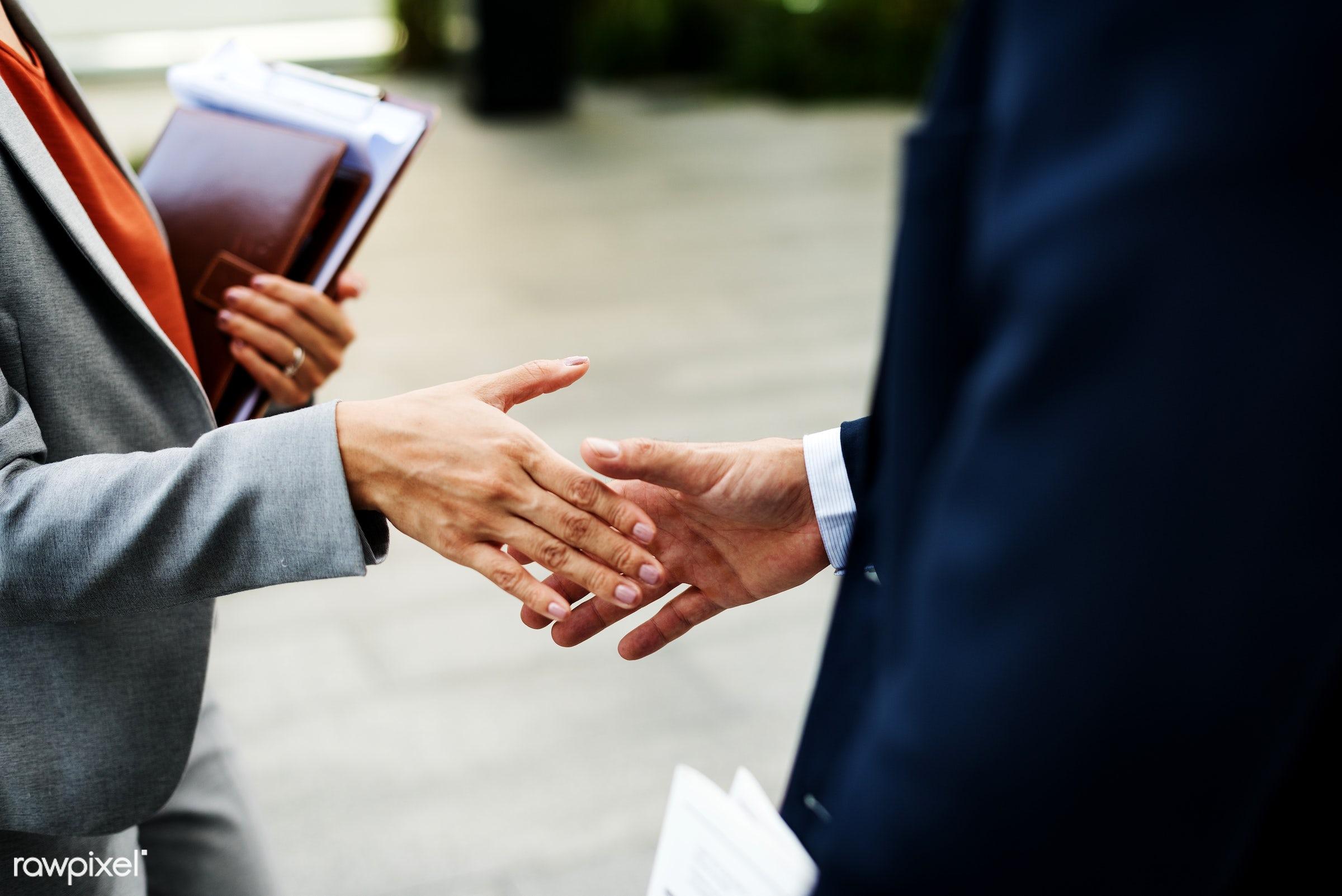 Handshake Corporate Partnership Office Worker Concept - corporation, big business, business, business organization, business...