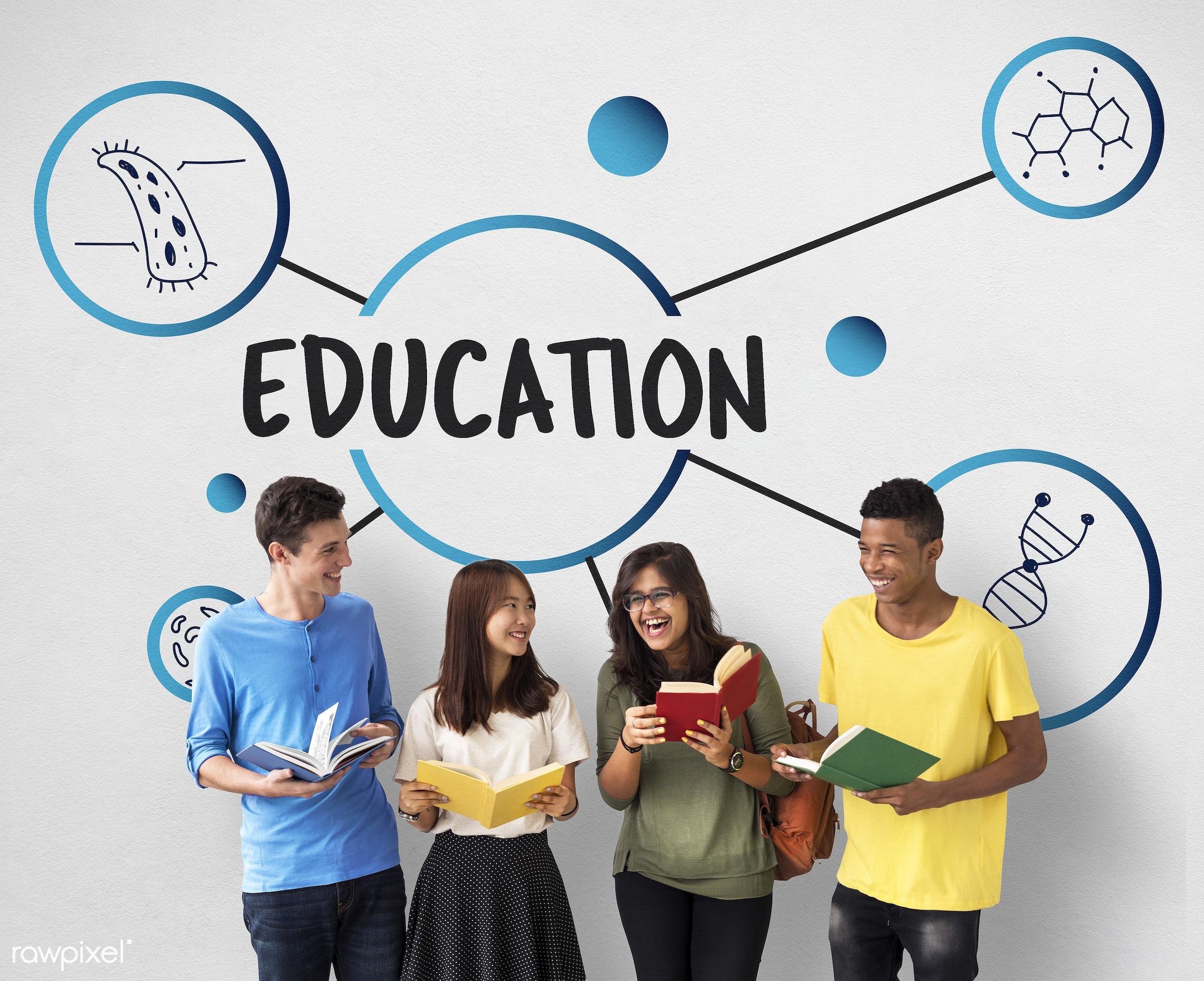Education - african descent, asian, biochemistry, biotech, book, caucasian, complexity, connection, development, diversity,...
