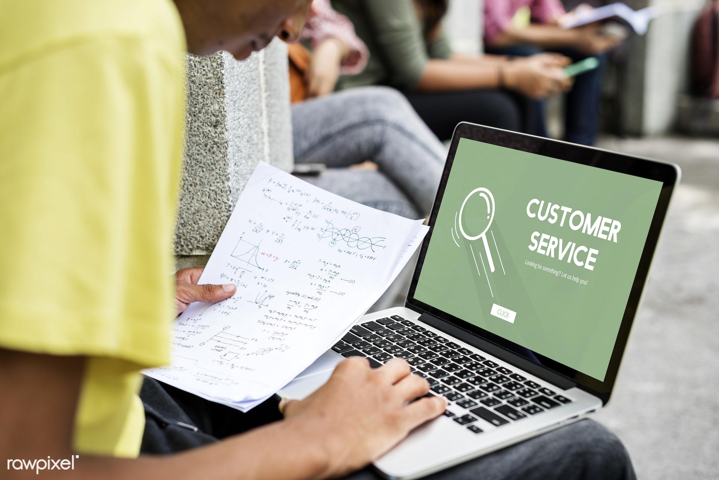 boy, calculation, digital device, gadget, graph, guy, holding, laptop, learning, man, math, mathematics, note, notebook,...