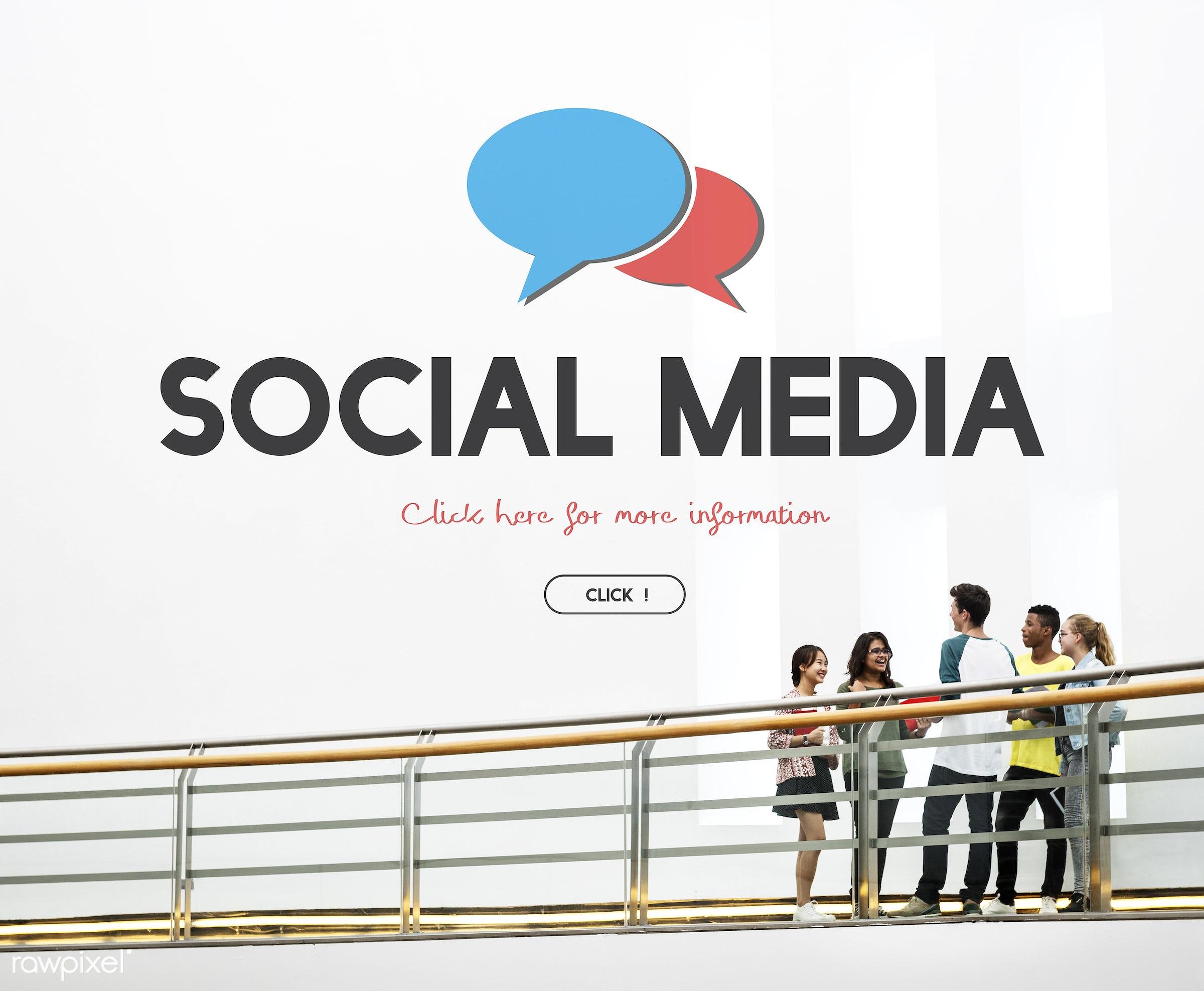 Social media - blog, boy, bridge, carrying, chat, communication, community, connection, conversation, friends, friendship,...