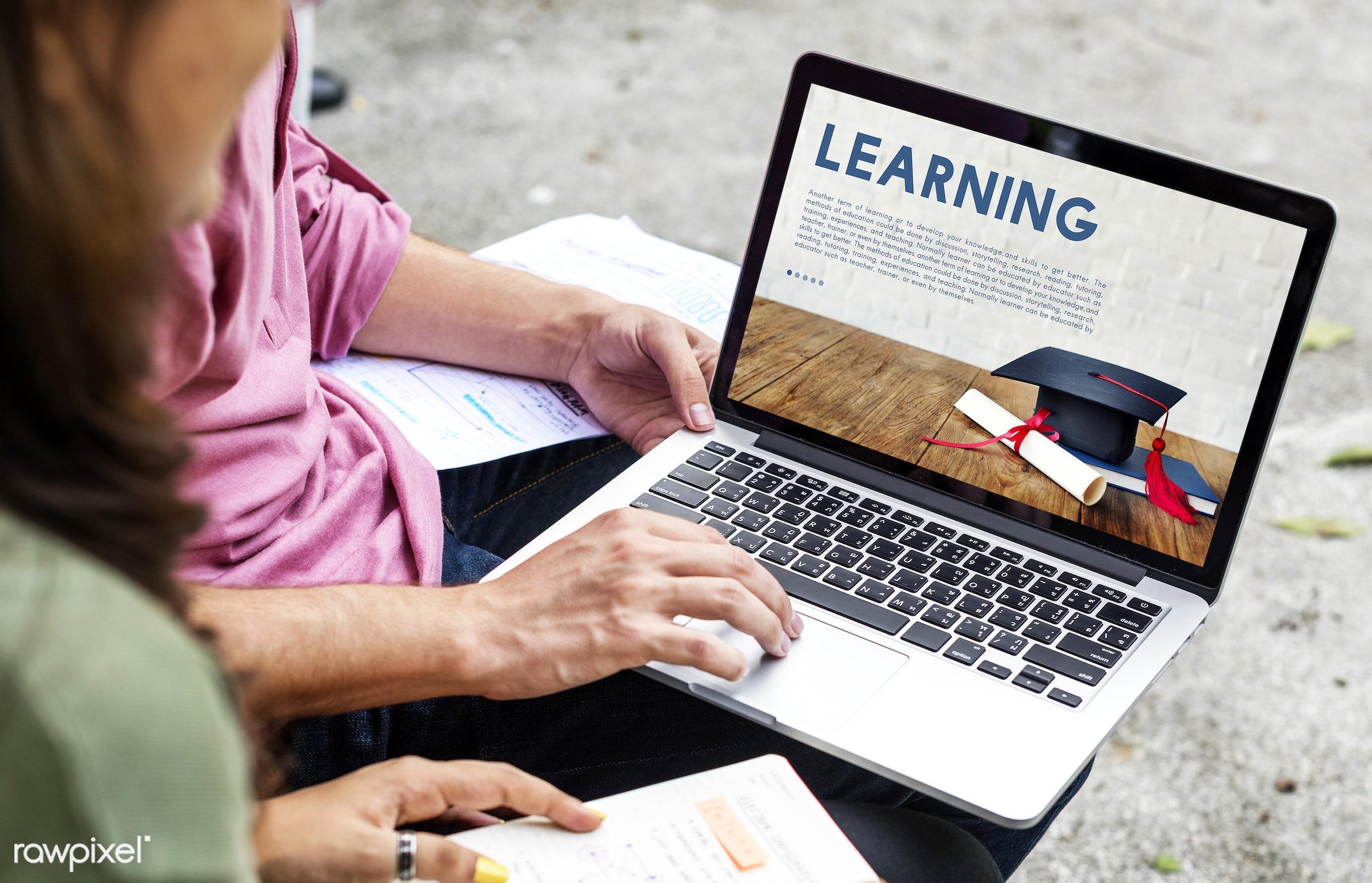 academics, academy, asian, browsing, caucasian, certificate, college, devices, diversity, education, enjoyment, friends,...