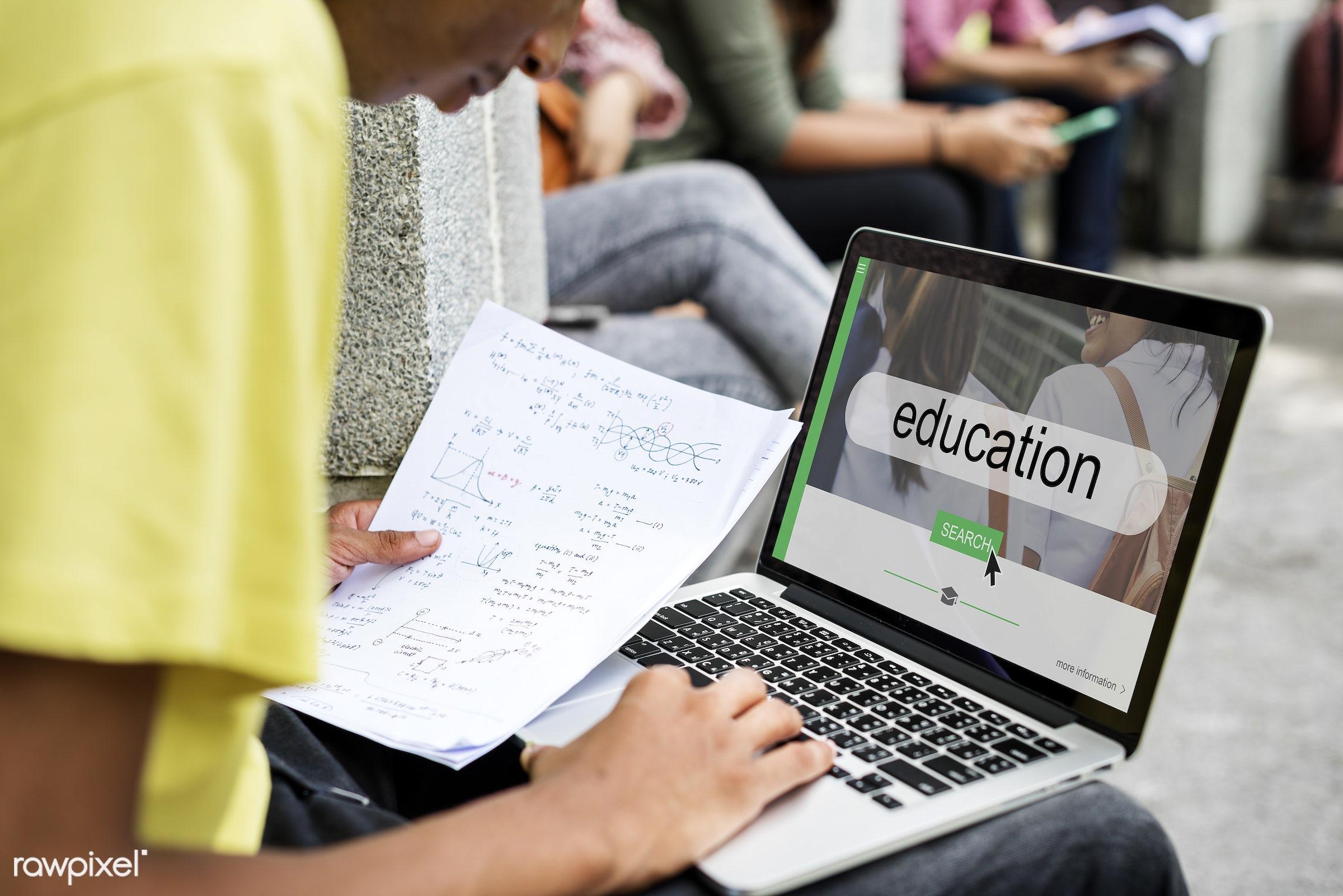 academics, box, boy, calculation, class, course, curriculum, digital device, distance, education, gadget, graph, guy,...