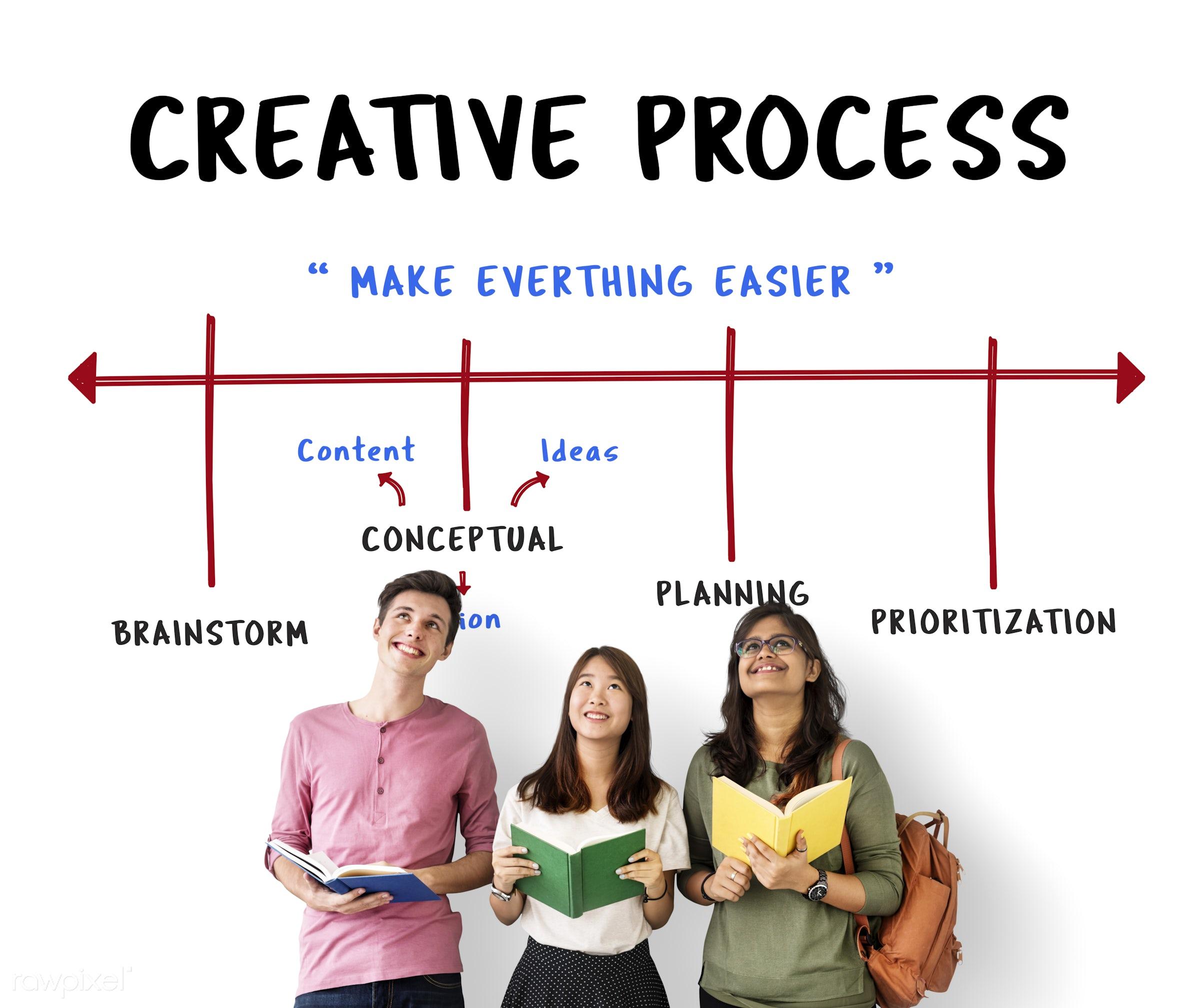 african descent, asian, book, brainstorm, caucasian, chart, communication, connection, creative, creativity, design,...