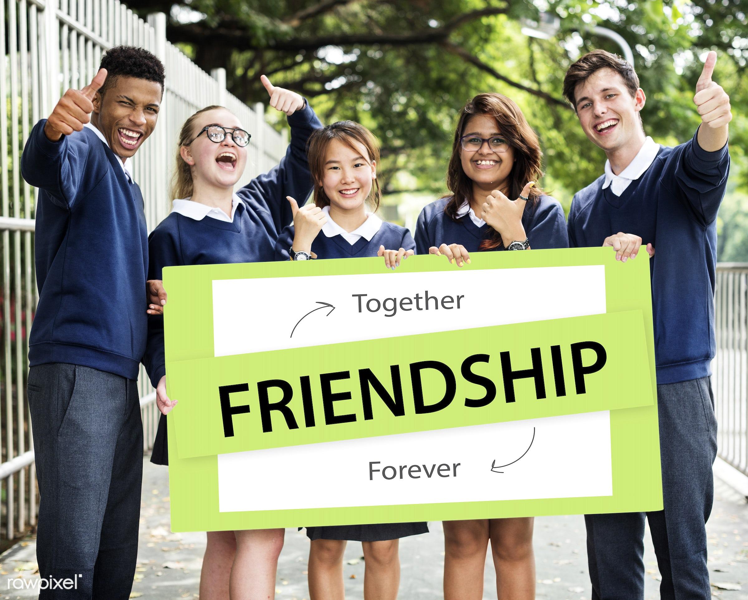 caucasian, african descent, asian, care, community, cooperation, diversity, enjoyment, forever, friends, friendship, fun,...