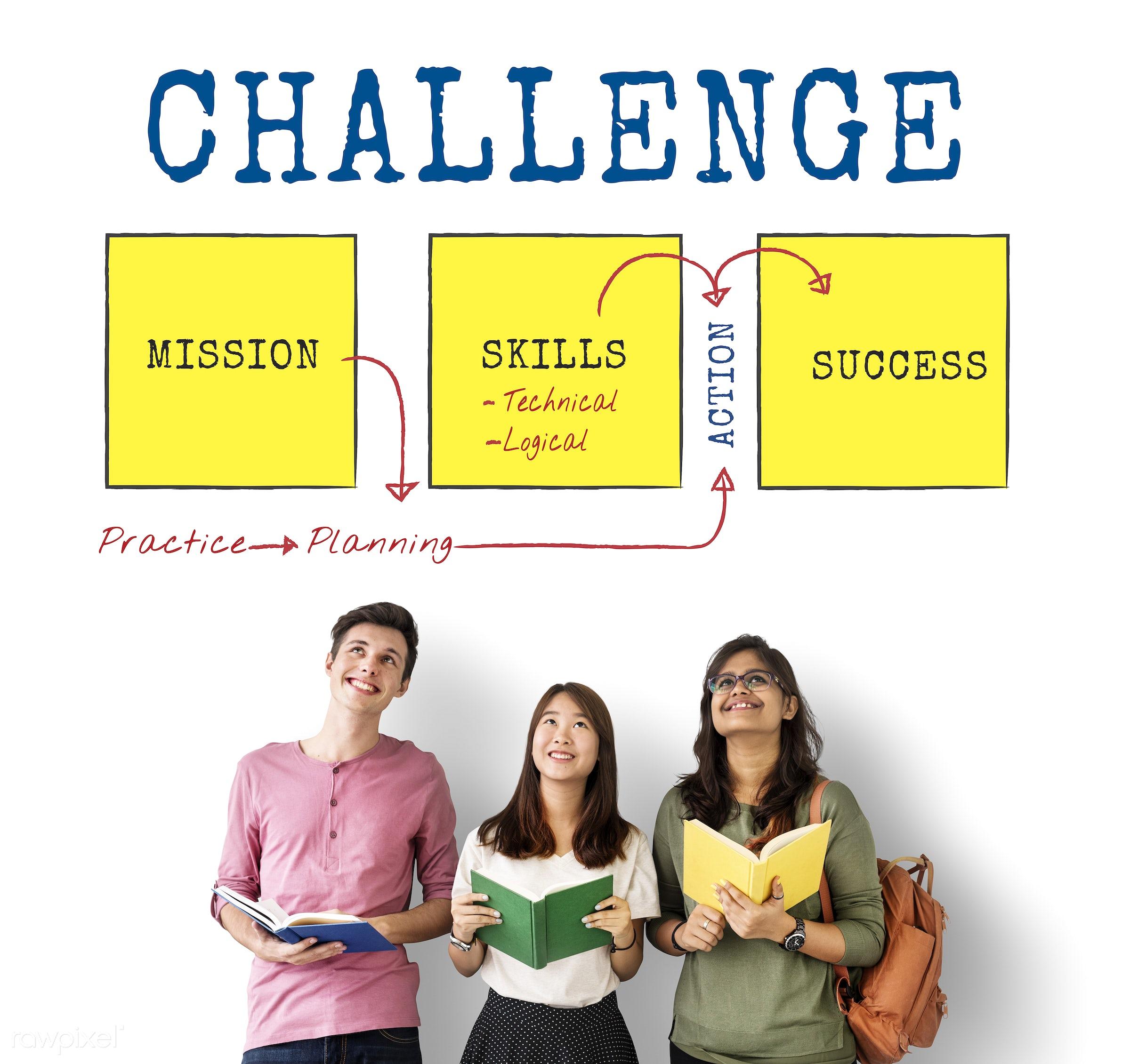 caucasian, achievement, action, african descent, asian, book, ccomplishment, challenge, competition, development, diagram,...