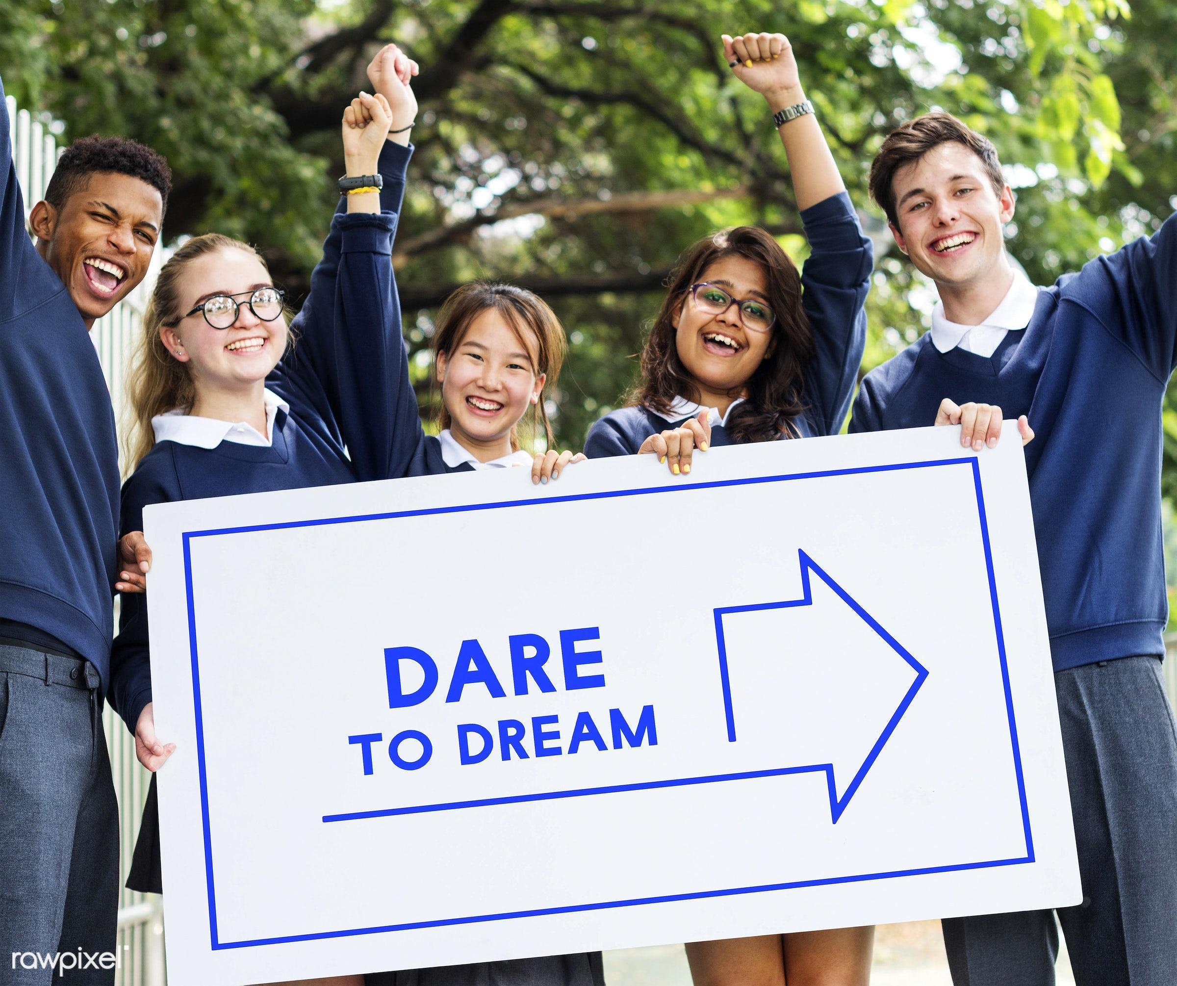 african descent, arrow, asian, aspirations, caucasian, dare to dream, diversity, do your best, don't stop, dream big,...