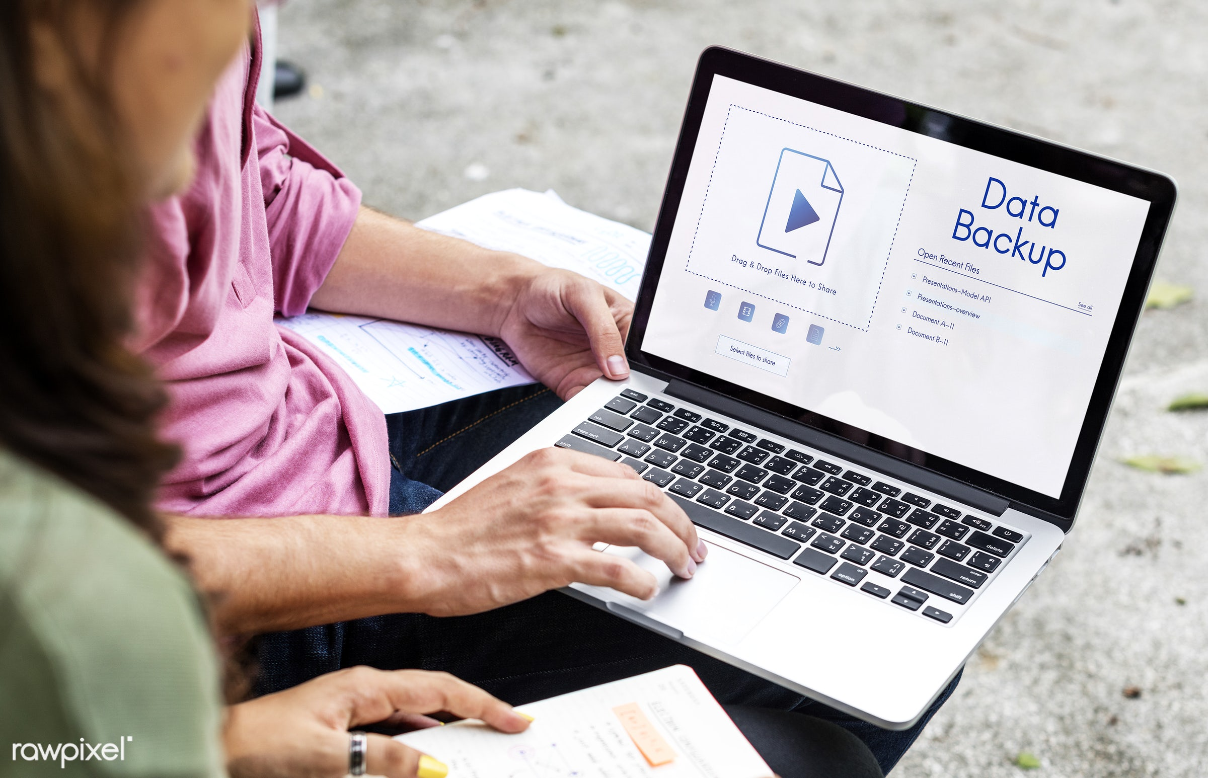 asian, backup, browsing, caucasian, cloud, computing, data, devices, digital, diversity, document, download, enjoyment, file...