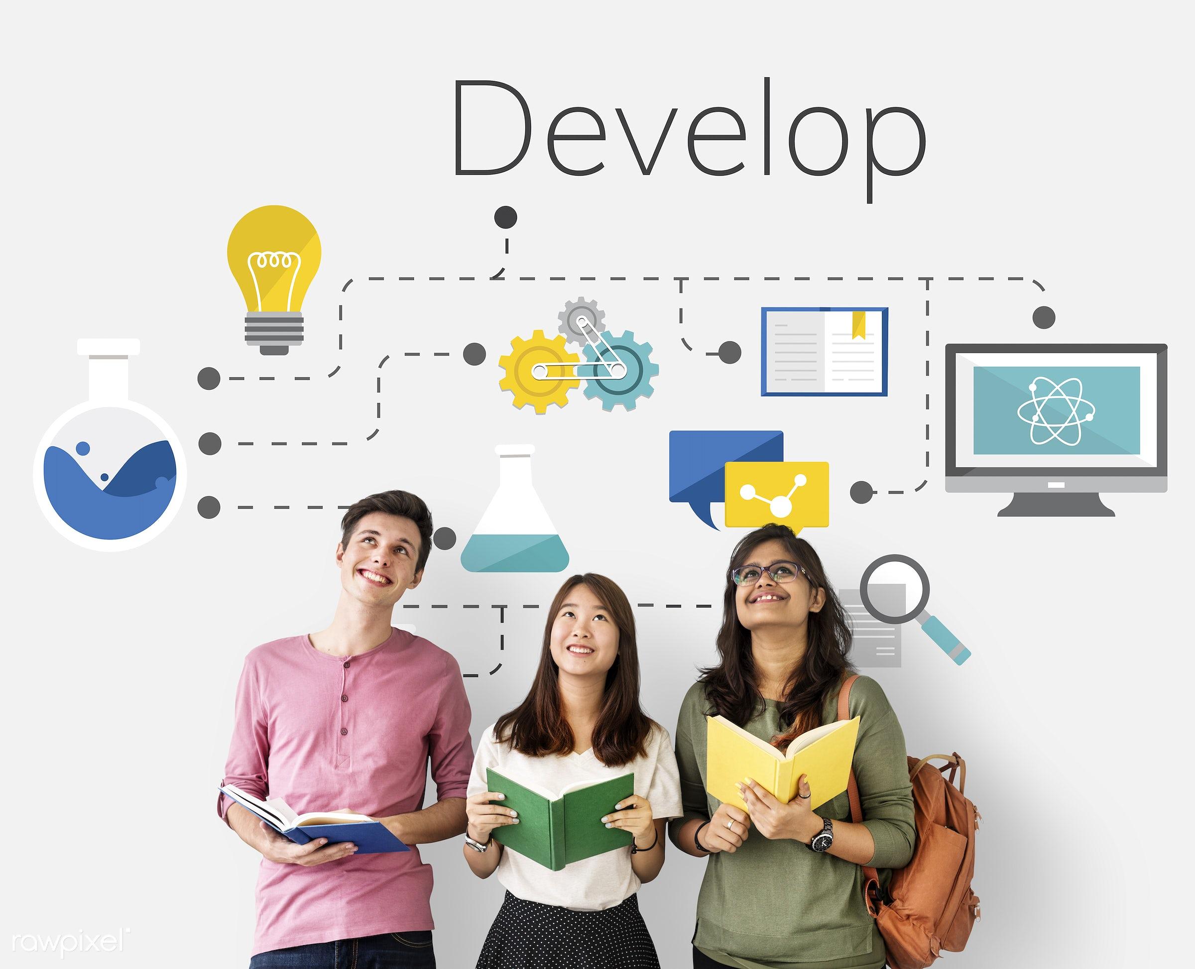 african descent, asian, book, business, caucasian, cloud, connection, control, creative, data, design, development, digital...