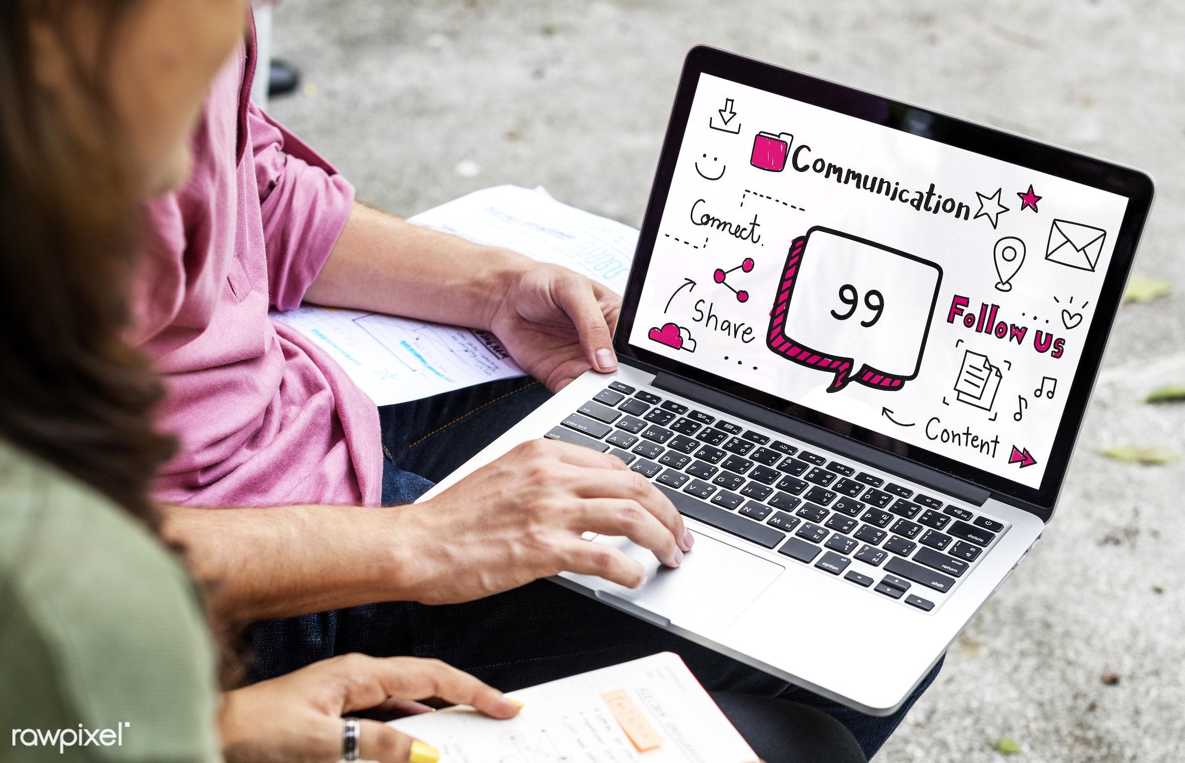 asian, blog, browsing, caucasian, chat, cloud, communication, community, connected, connection, content, conversation,...