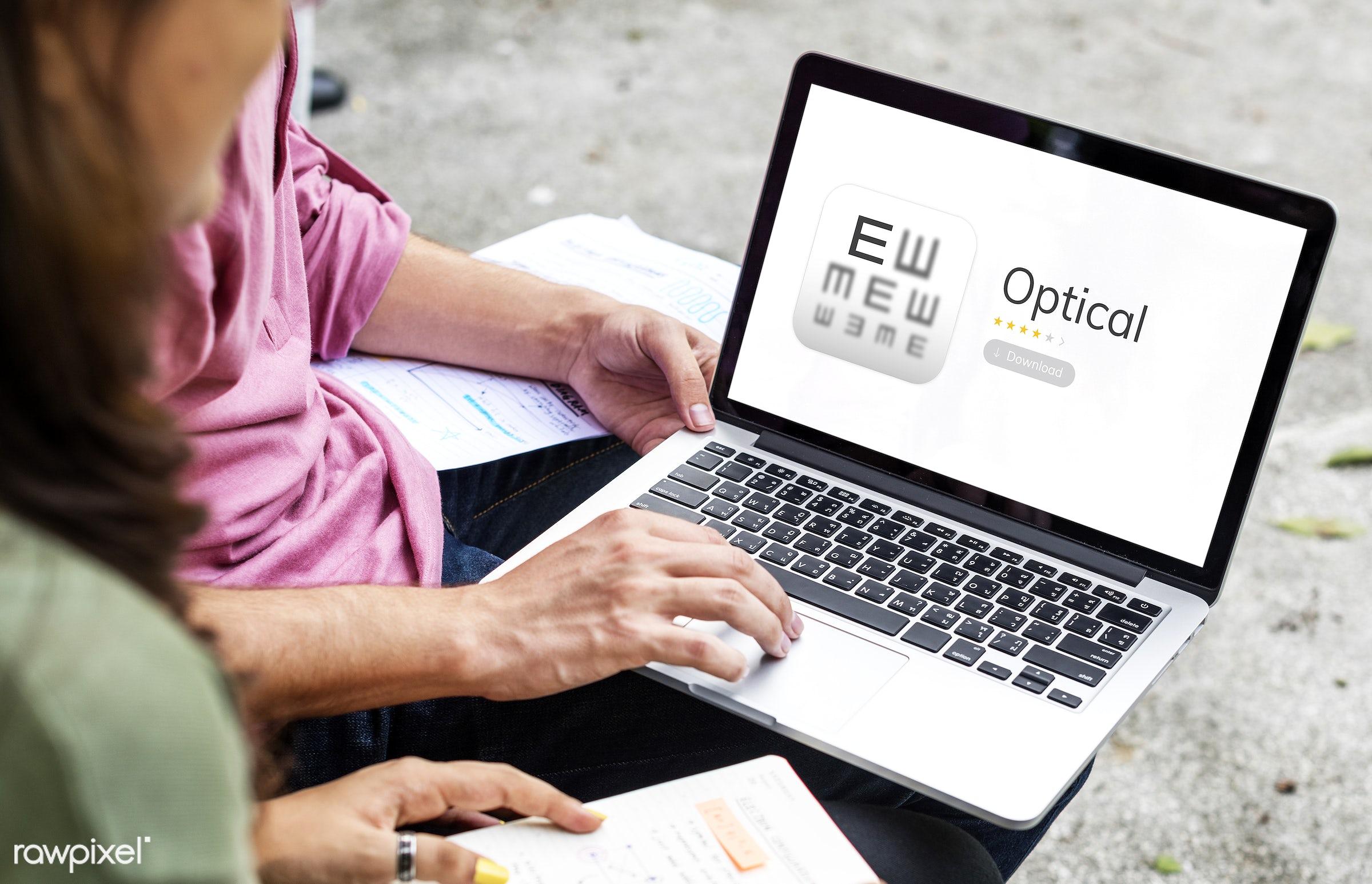 asian, browsing, business, care, caucasian, consultation, devices, digital, diversity, enjoyment, equipment, eye, eyesight,...