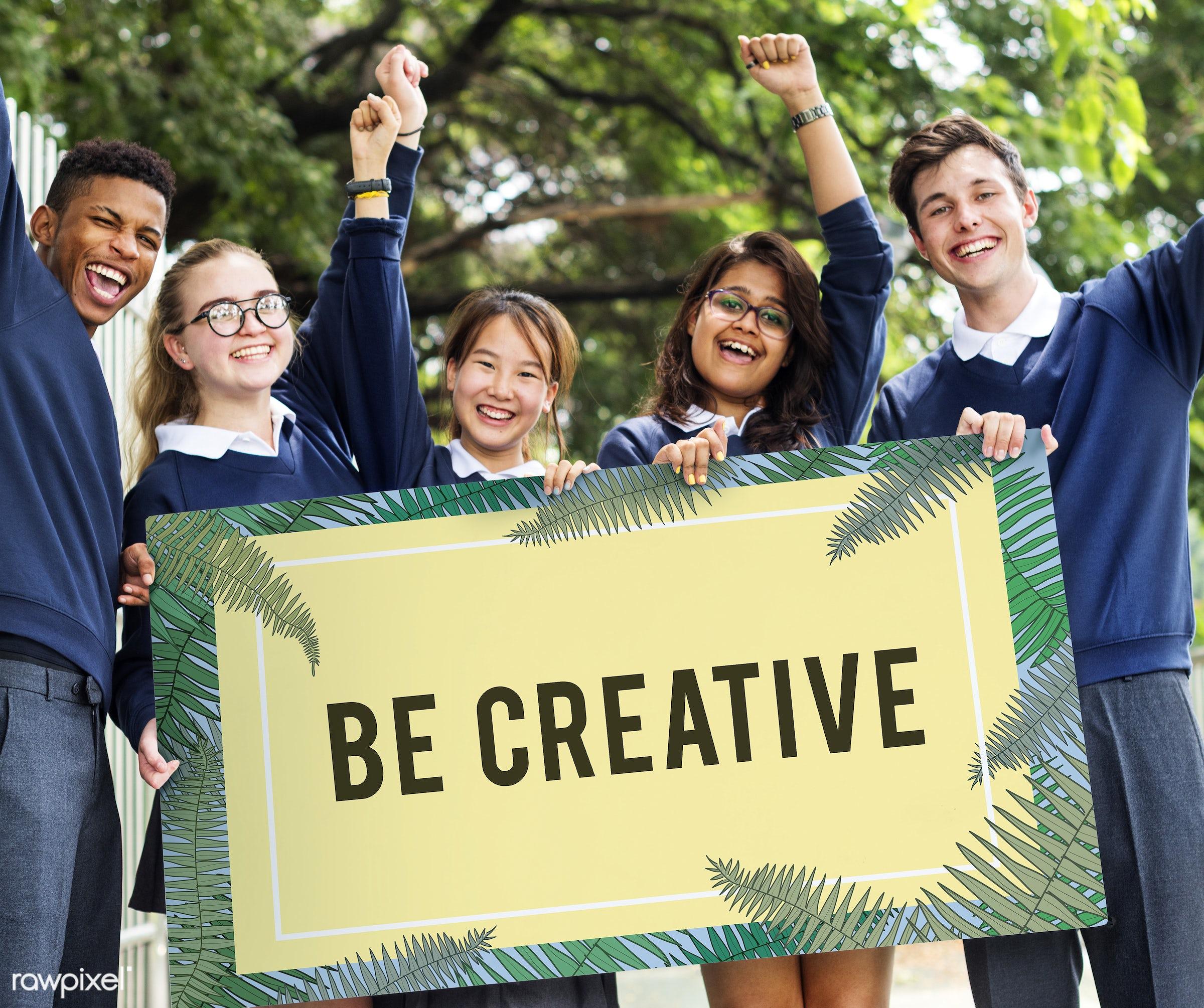 african descent, asian, be creative, caucasian, creative, creativity, design, diversity, draft, enjoyment, frame, fresh...