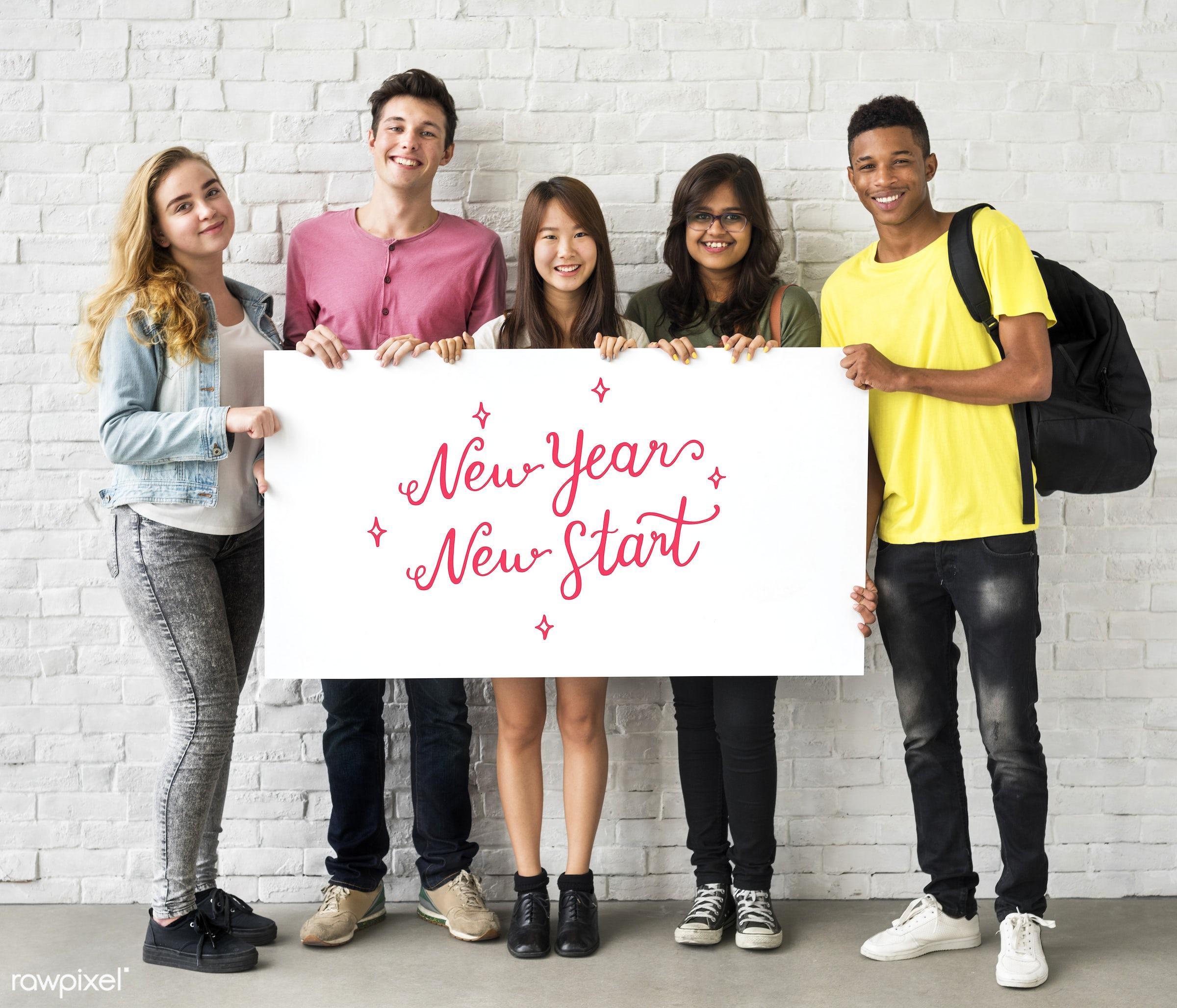 african descent, asian, best wishes, caucasian, celebration, cheers, christmas, confetti, decoration, diversity, enjoyment,...