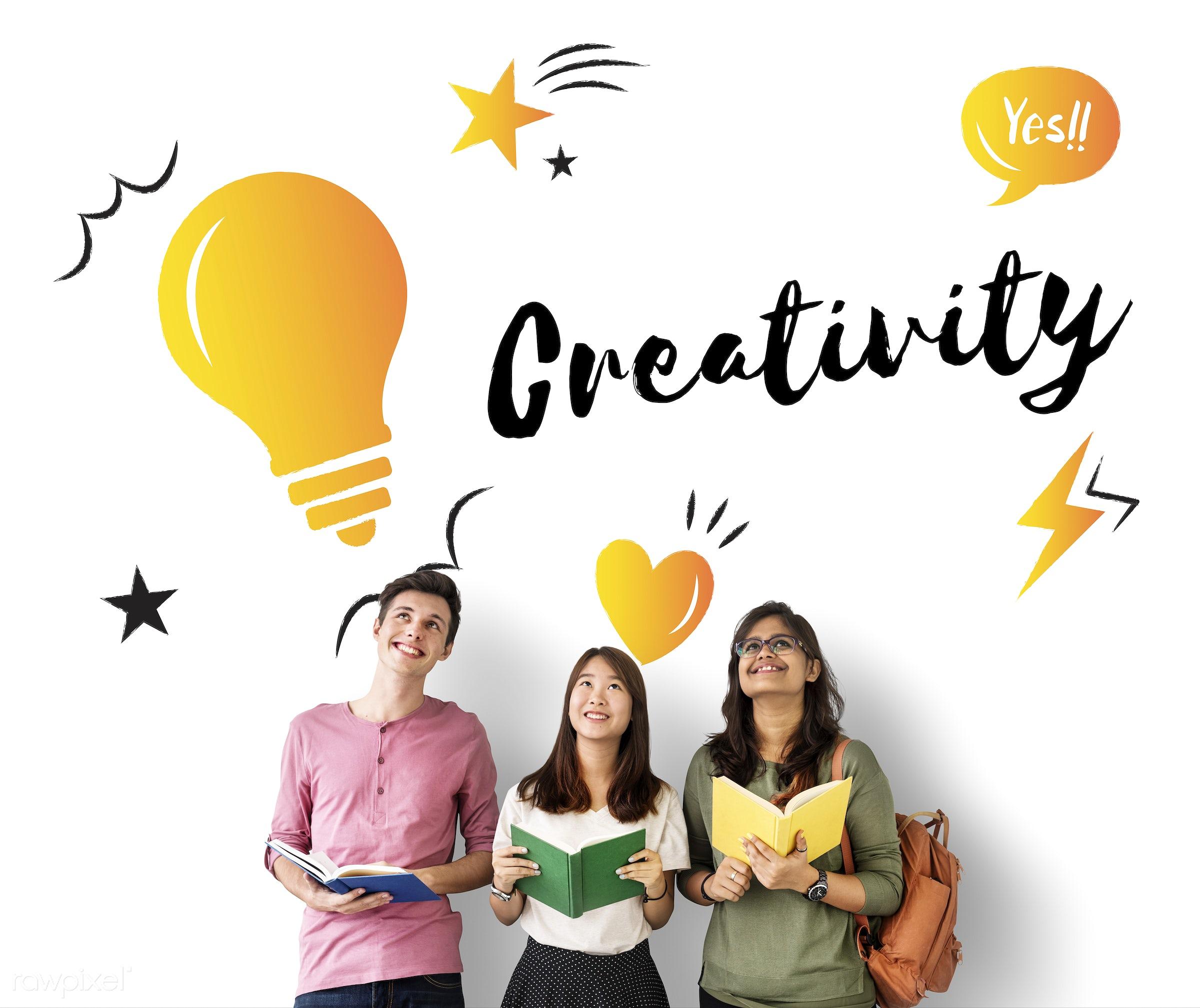 achievement, african descent, asian, be, book, brainstorming, caucasian, creation, creative, creativity, design, diversity,...