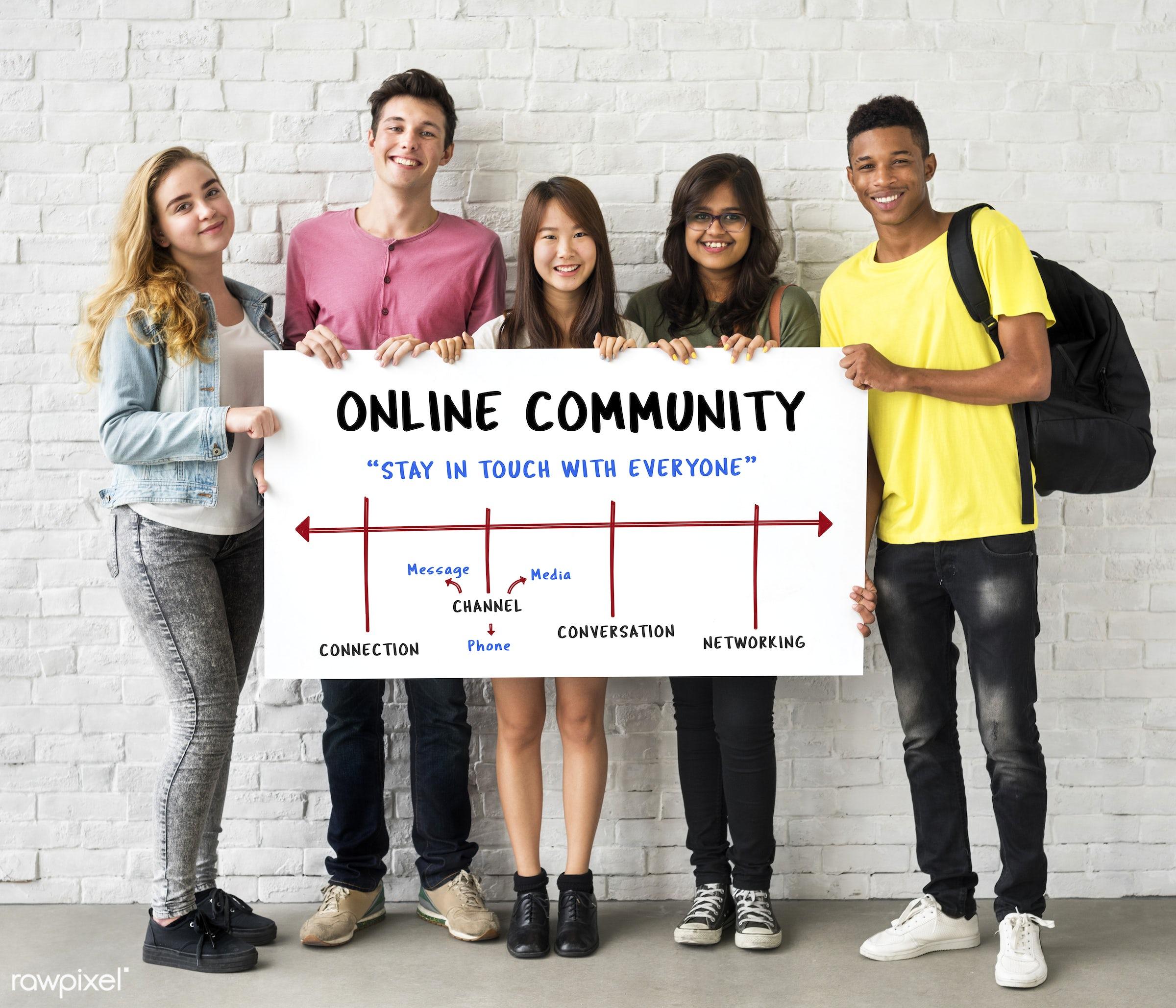 african descent, asian, caucasian, channel, chat, communication, connect, connection, data, digital, diversity, enjoyment,...