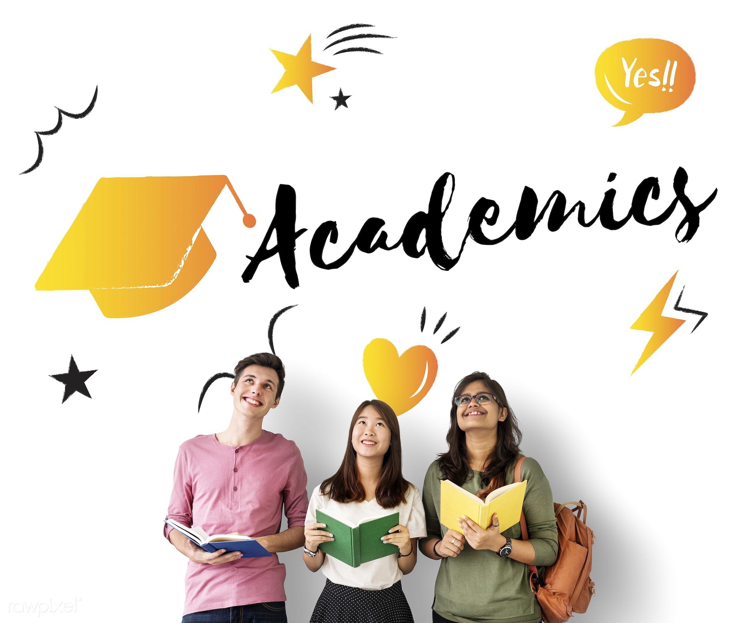 academics, african descent, asian, book, cap, caucasian, diversity, education, enjoyment, friends, friendship, fun,...