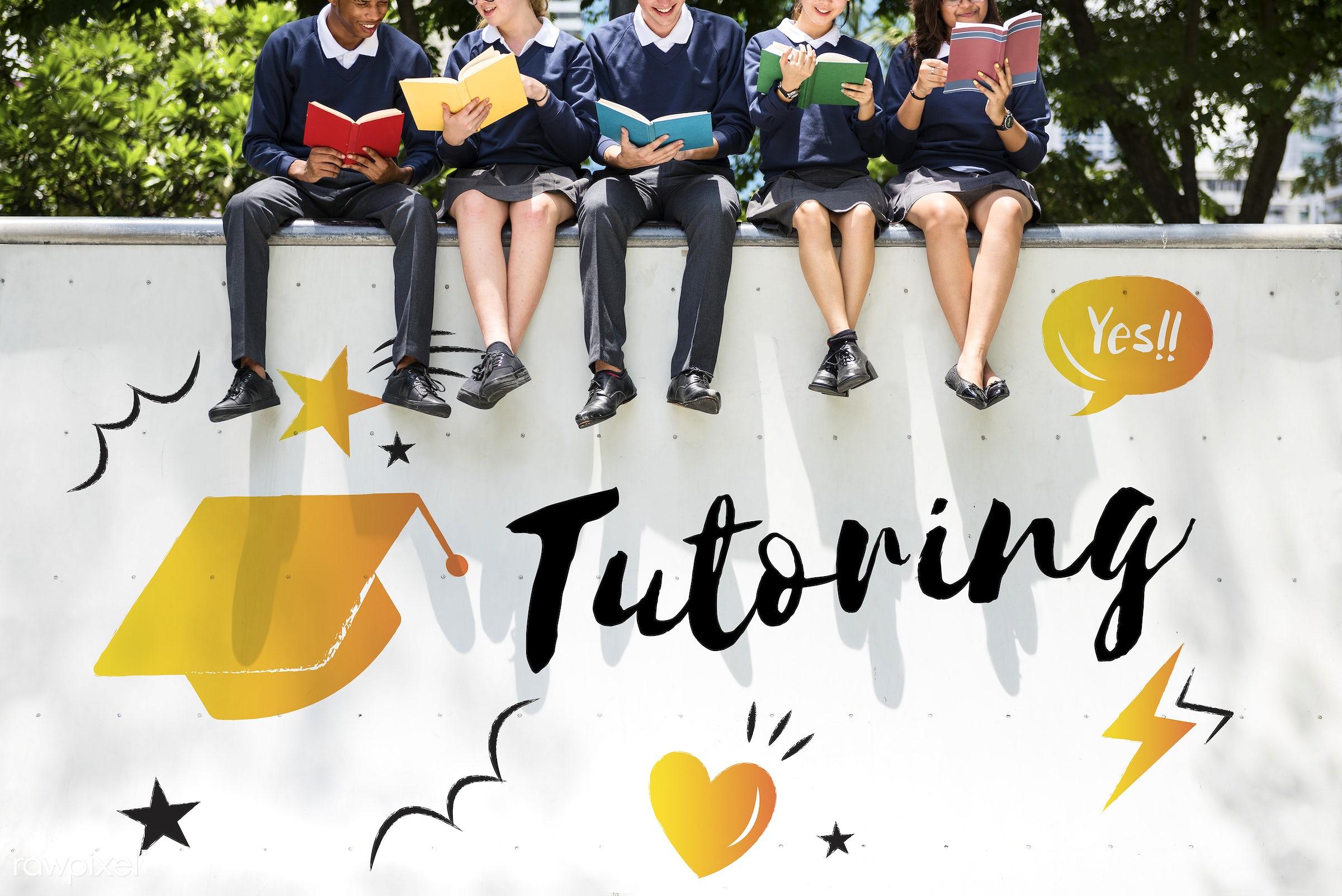 academics, books, cap, class, college, diversity, education, friends, friendship, graduation, graphic, high school, holding...