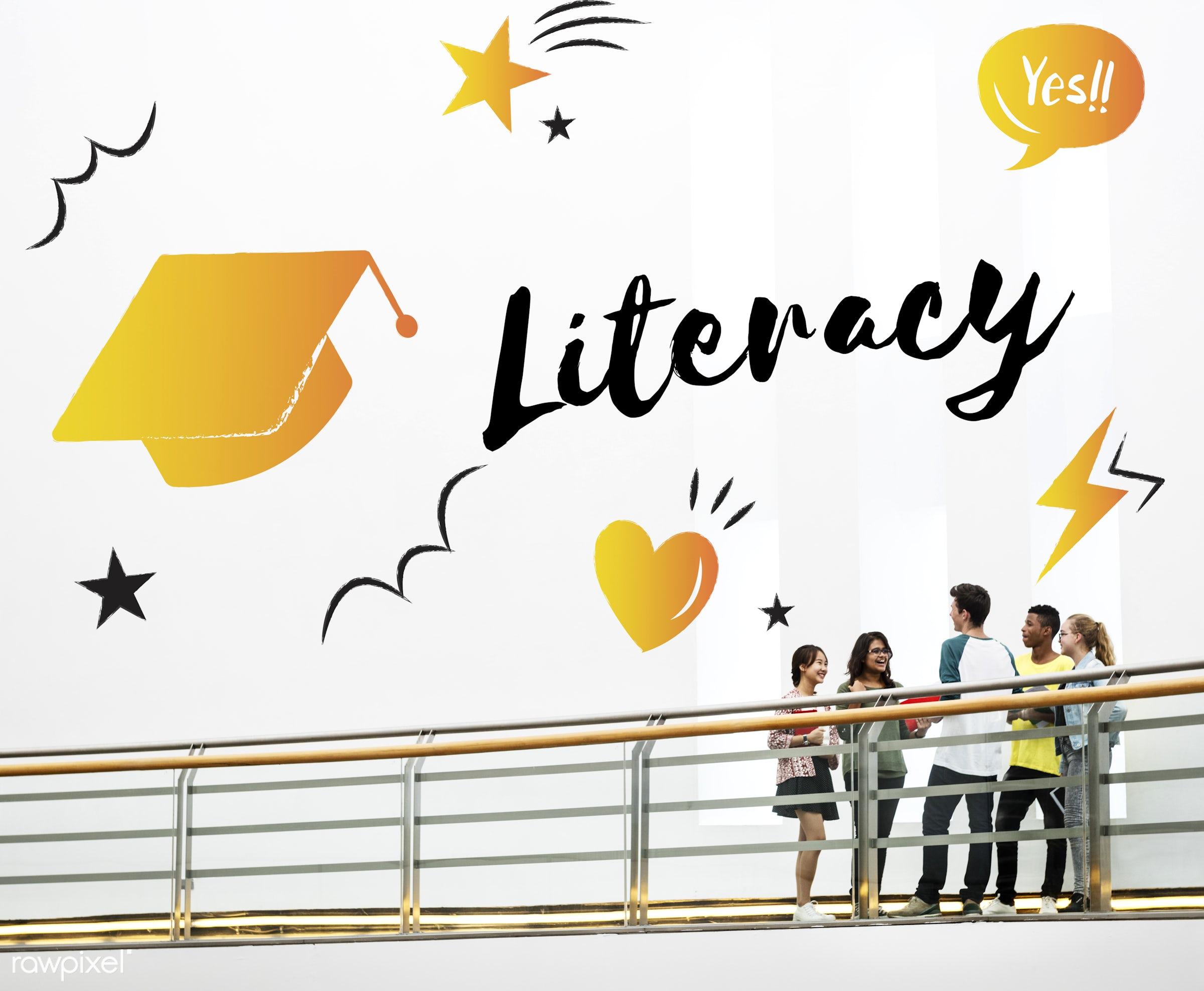 academics, book, books, boy, bridge, cap, carrying, education, friends, friendship, girls, graduation, graphic, group of...