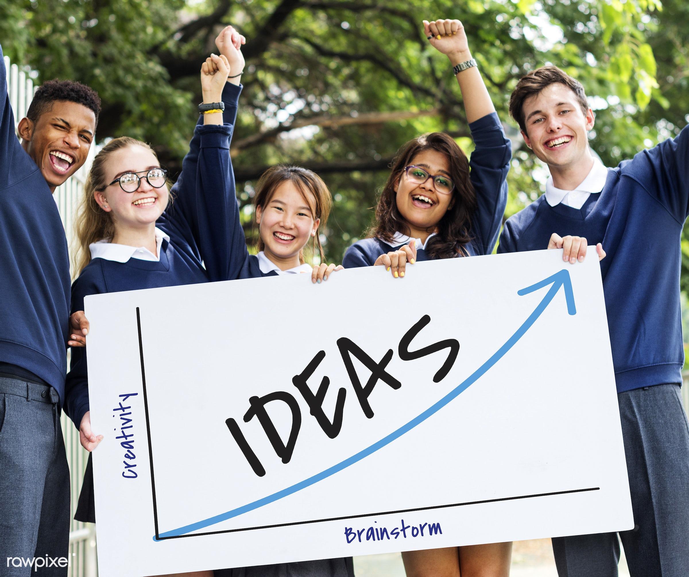 achievement, african descent, asian, aspirations, brainstorm, caucasian, creativity, direction, diversity, enjoyment,...