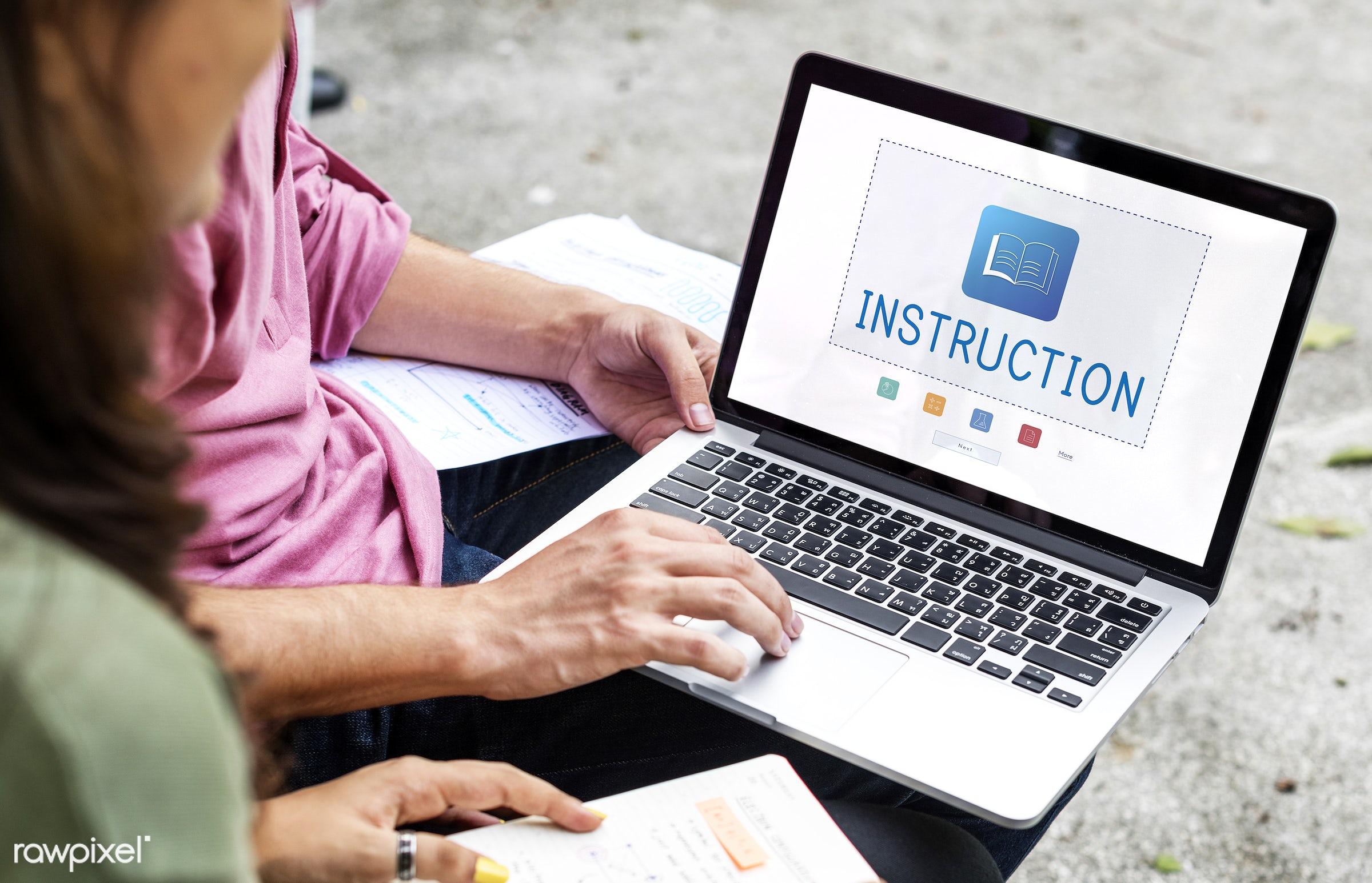 academics, asian, book, browsing, caucasian, certification, communication, curriculum, devices, diversity, e-book, e-...