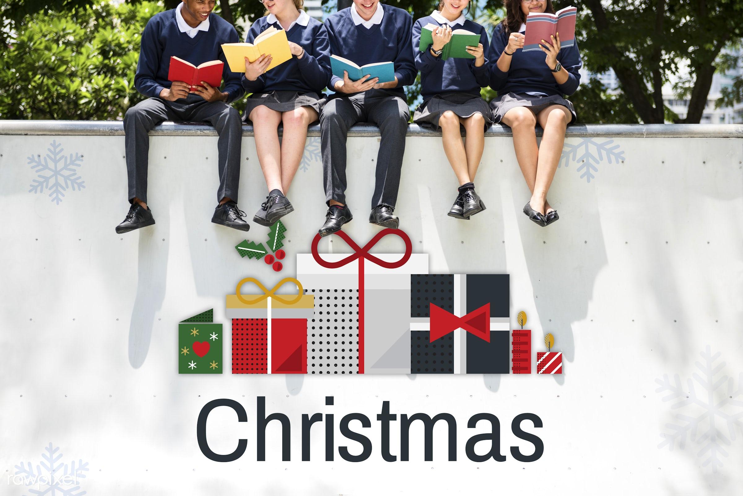 best wishes, books, celebration, christmas, class, college, confetti, decoration, diversity, friends, friendship, gift,...