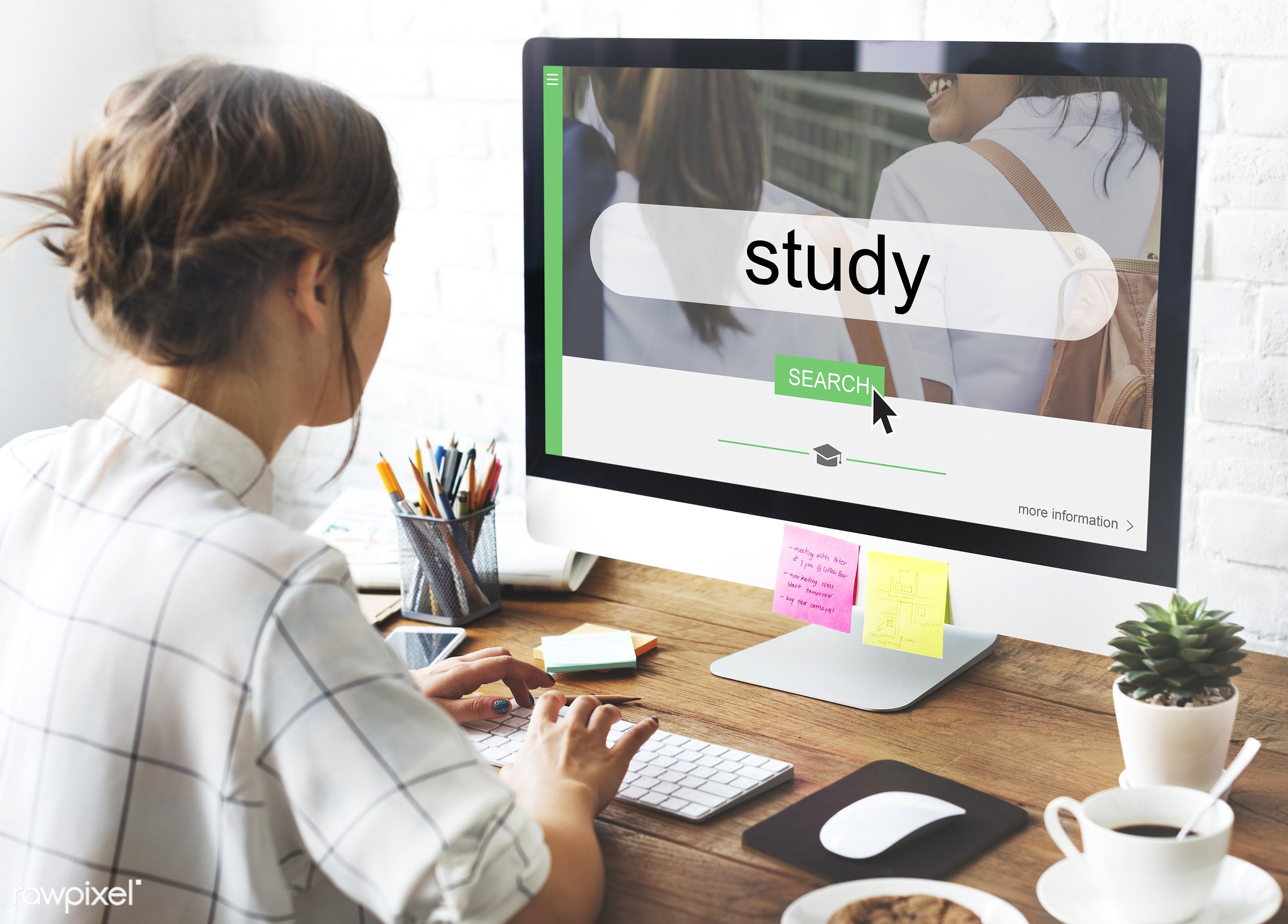 Online education - contemporary, academics, box, brainstorming, casual, class, computer, computer monitor, concepts, course...