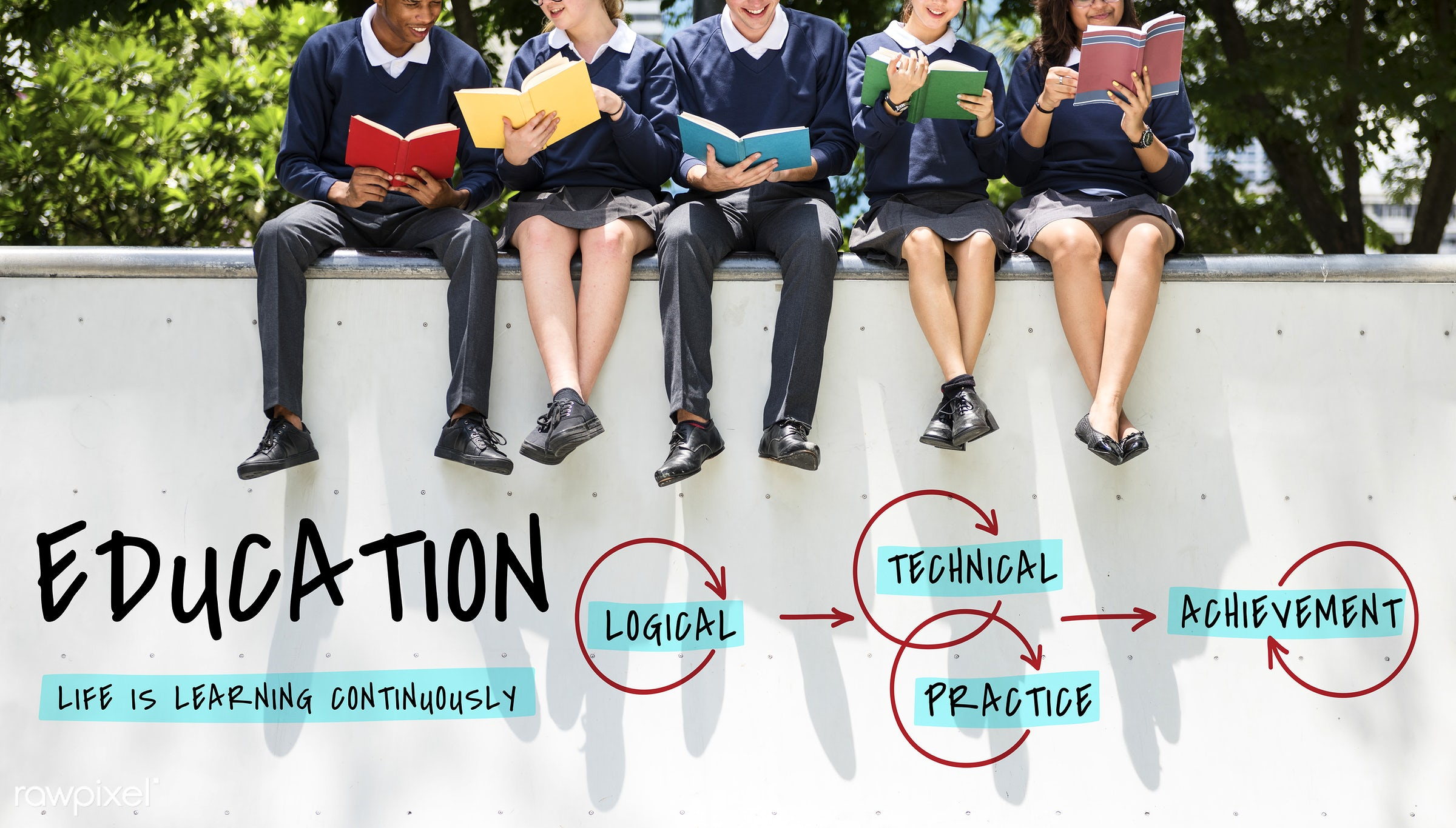 achieve, achievement, books, class, college, diversity, educate, education, friends, friendship, graduate, guidance, guide,...