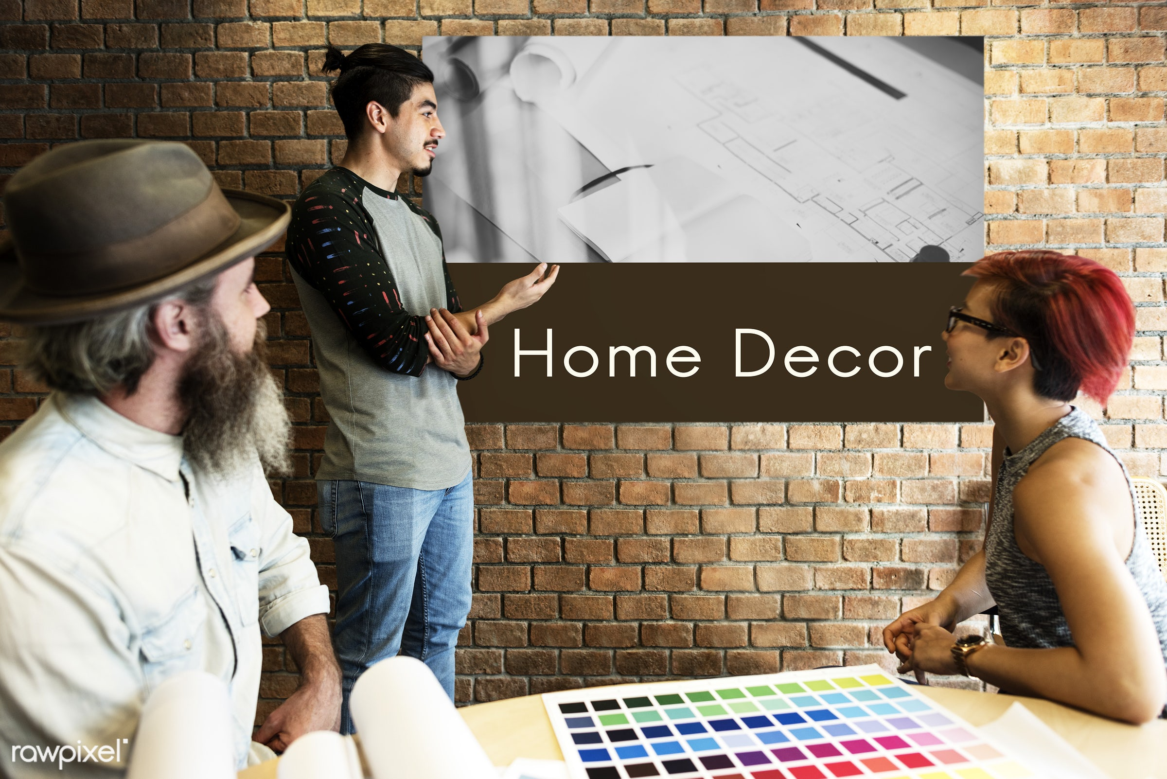 contemporary, architect, architecture, art, beard, board, brick wall, building, chart, color chart, colors, construction,...