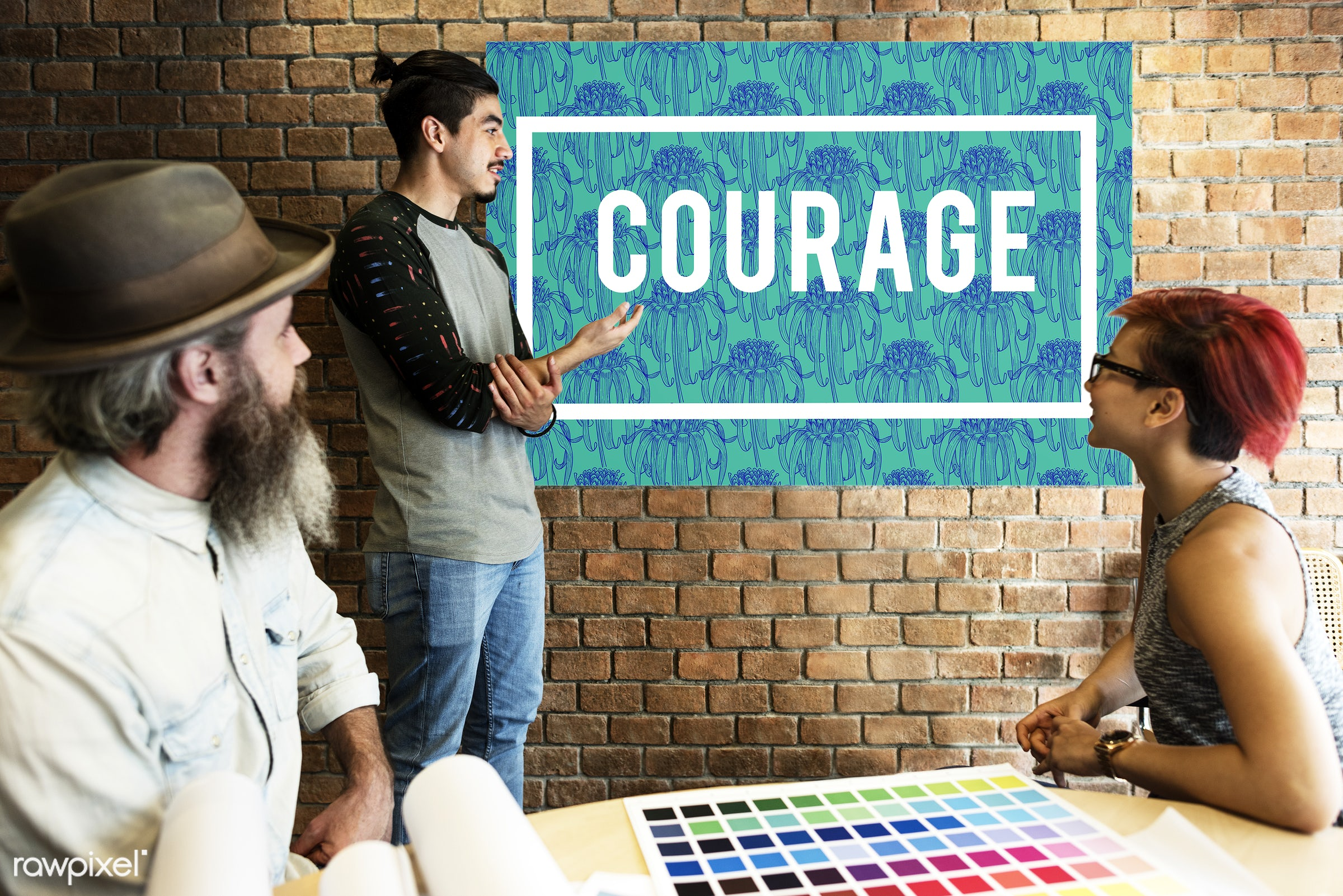 art, aspiration, beard, believe, board, brave, brick wall, chart, color chart, colors, courage, creativity, dare, design,...
