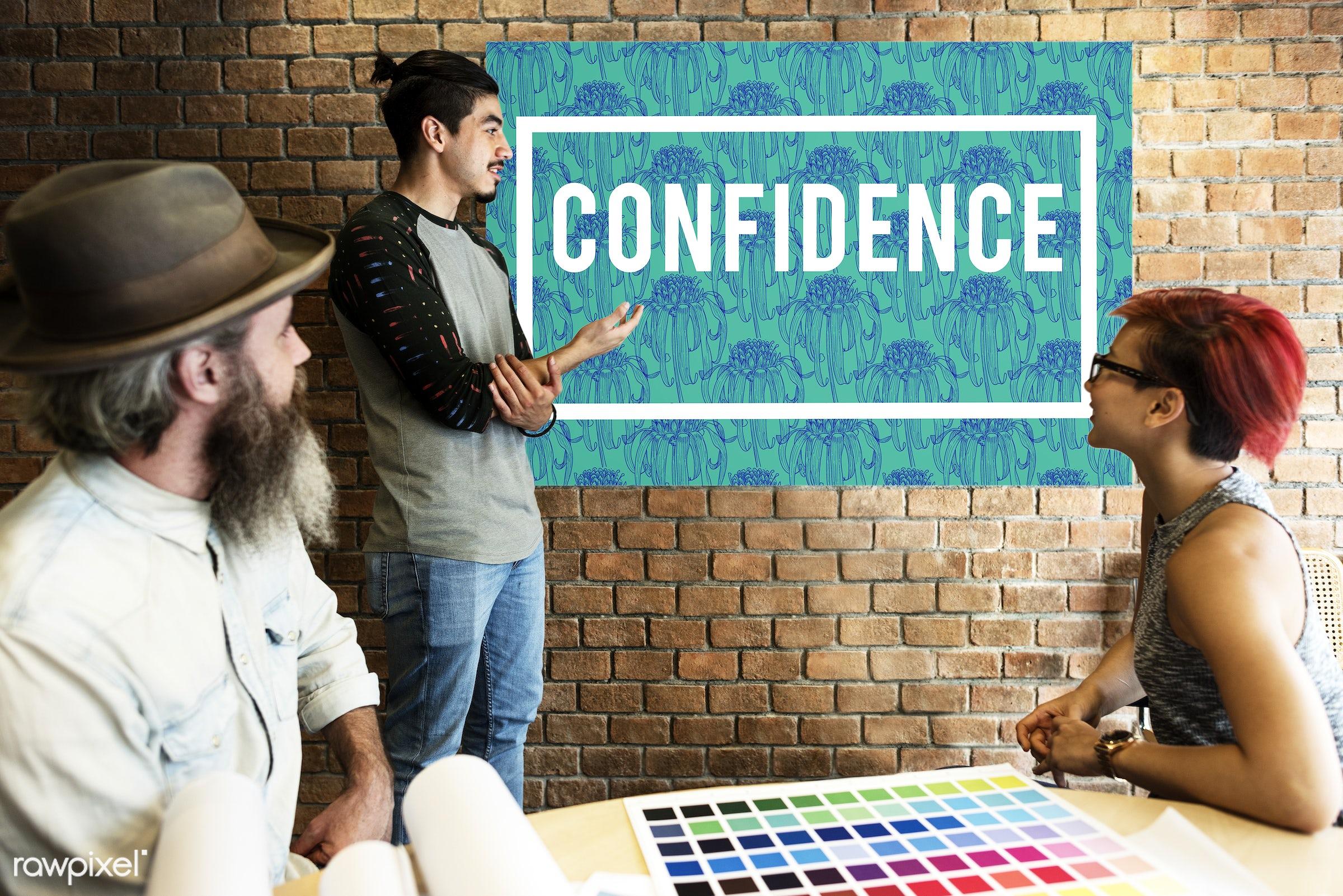 art, attitude, beard, board, brick wall, chart, color chart, colors, confidence, design, discussion, faith, feeling, female...