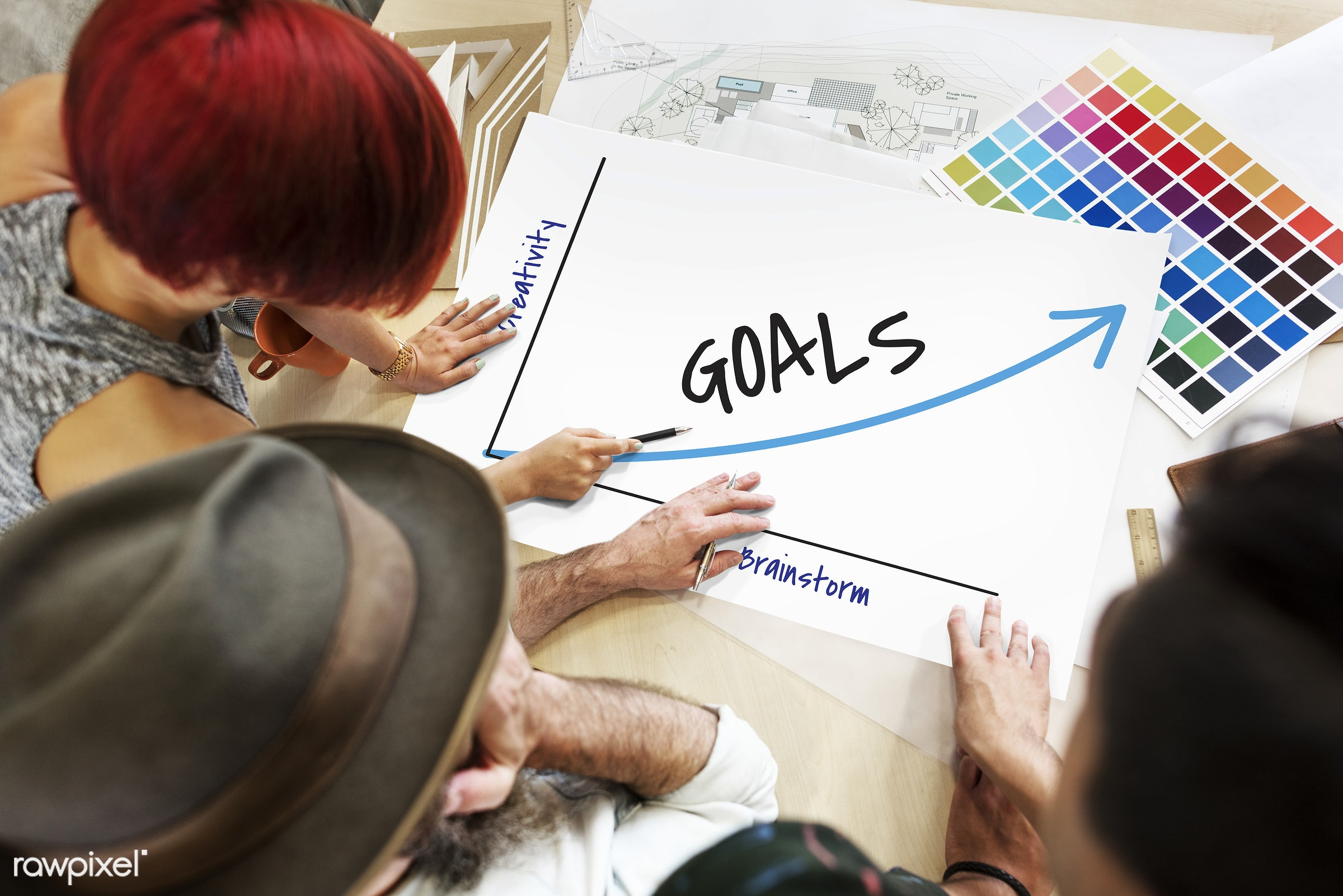 art, aspiration, brainstorming, color chart, colors, creative, creativity, design, discussion, encourage, expectations,...