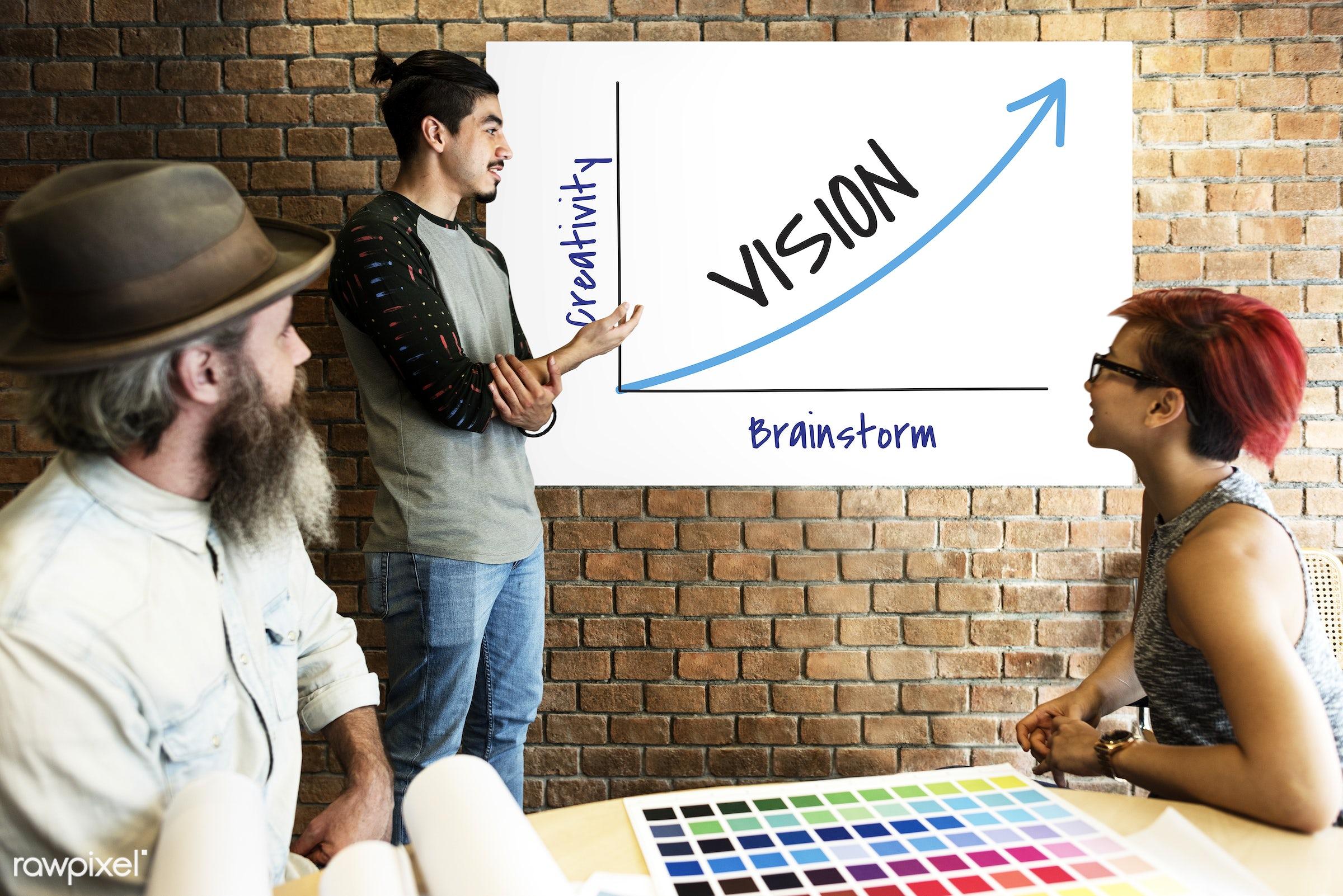 achievement, art, aspirations, beard, board, brainstorm, brick wall, chart, color chart, colors, creativity, design,...